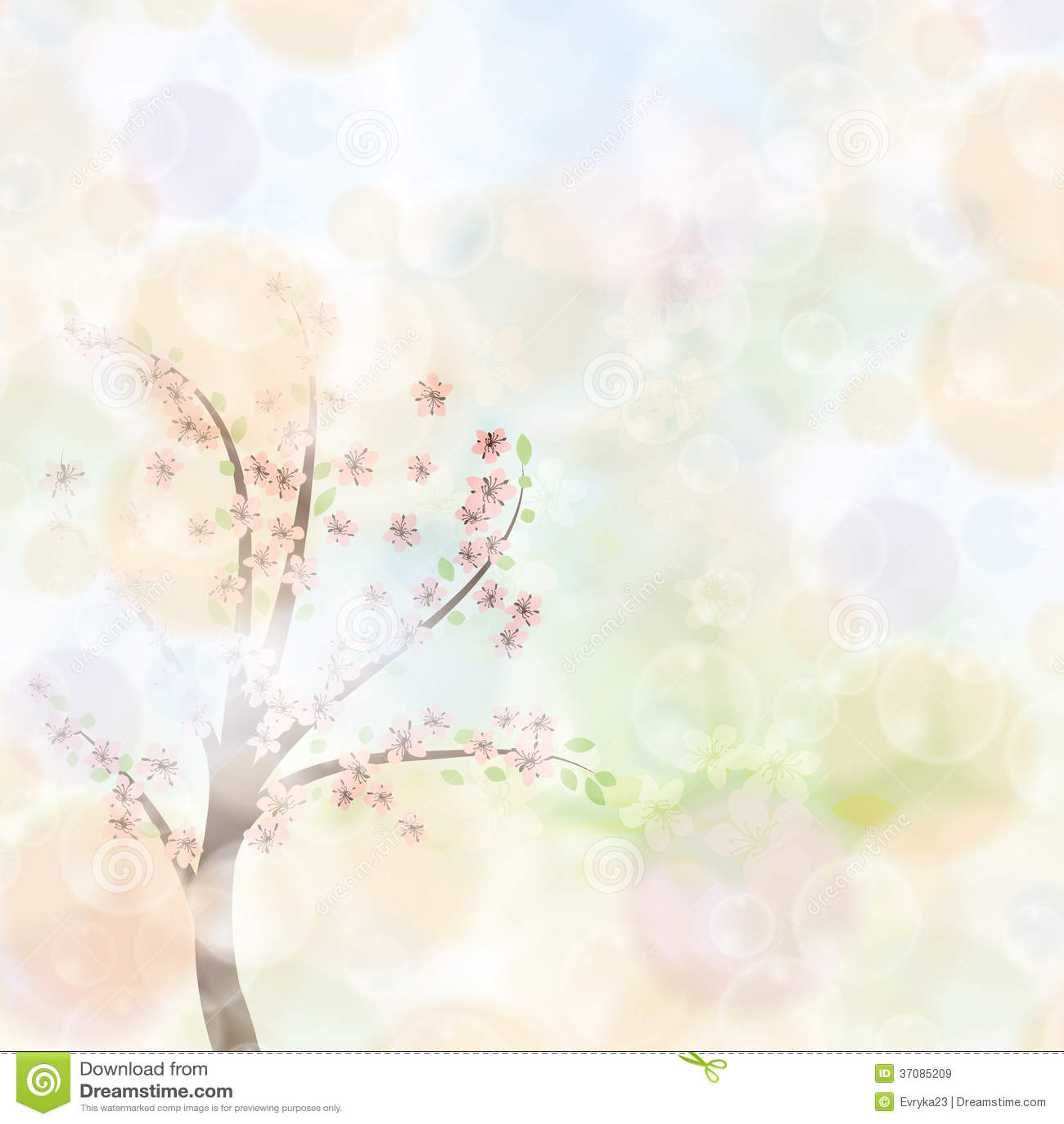 Download Abstrakcjonistycznej Wiosny Kwiecisty Tło Ilustracja Wektor - Ilustracja złożonej z arte, świeżość: 37085209