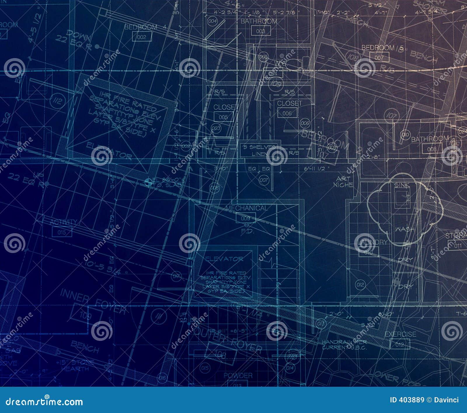 Abstrakcjonistyczni archecture plany