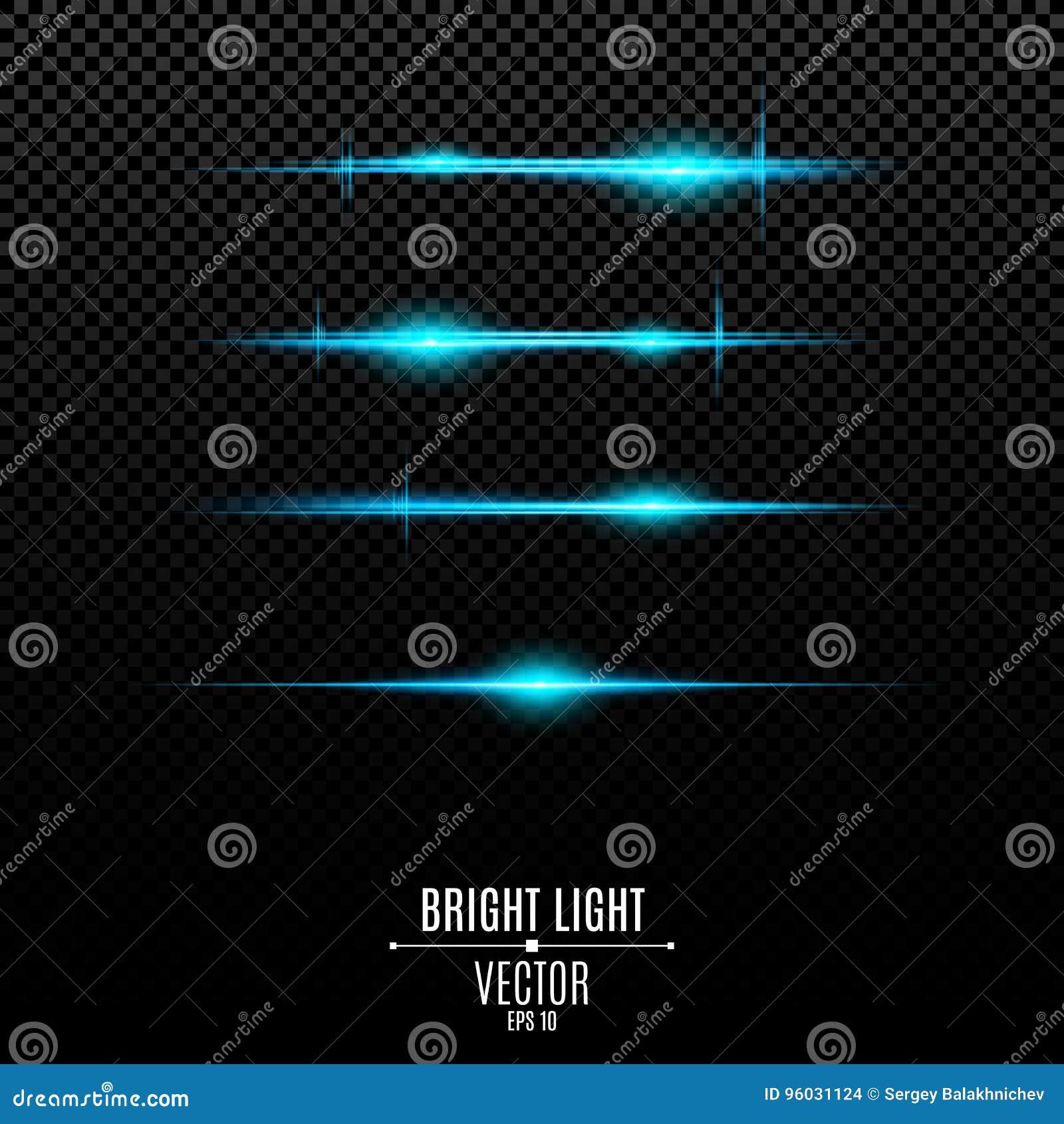 Abstrakcjonistyczni błękitów światła na przejrzystym tle Jaskrawy świecenie błękit i błyski Skutek kamera Lekka wibracja Glo