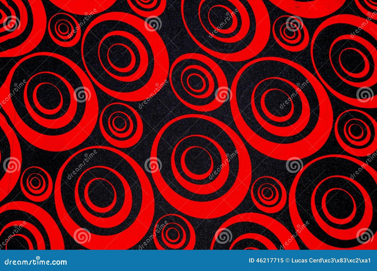 Abstrakcjonistyczni czerwieni i czerni okręgi