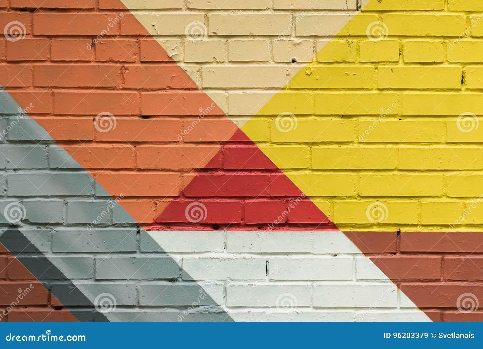 Abstrakcjonistyczni graffiti na ścianie, bardzo mały szczegół Uliczny sztuki zakończenie, elegancki wzór Może być pożytecznie dla