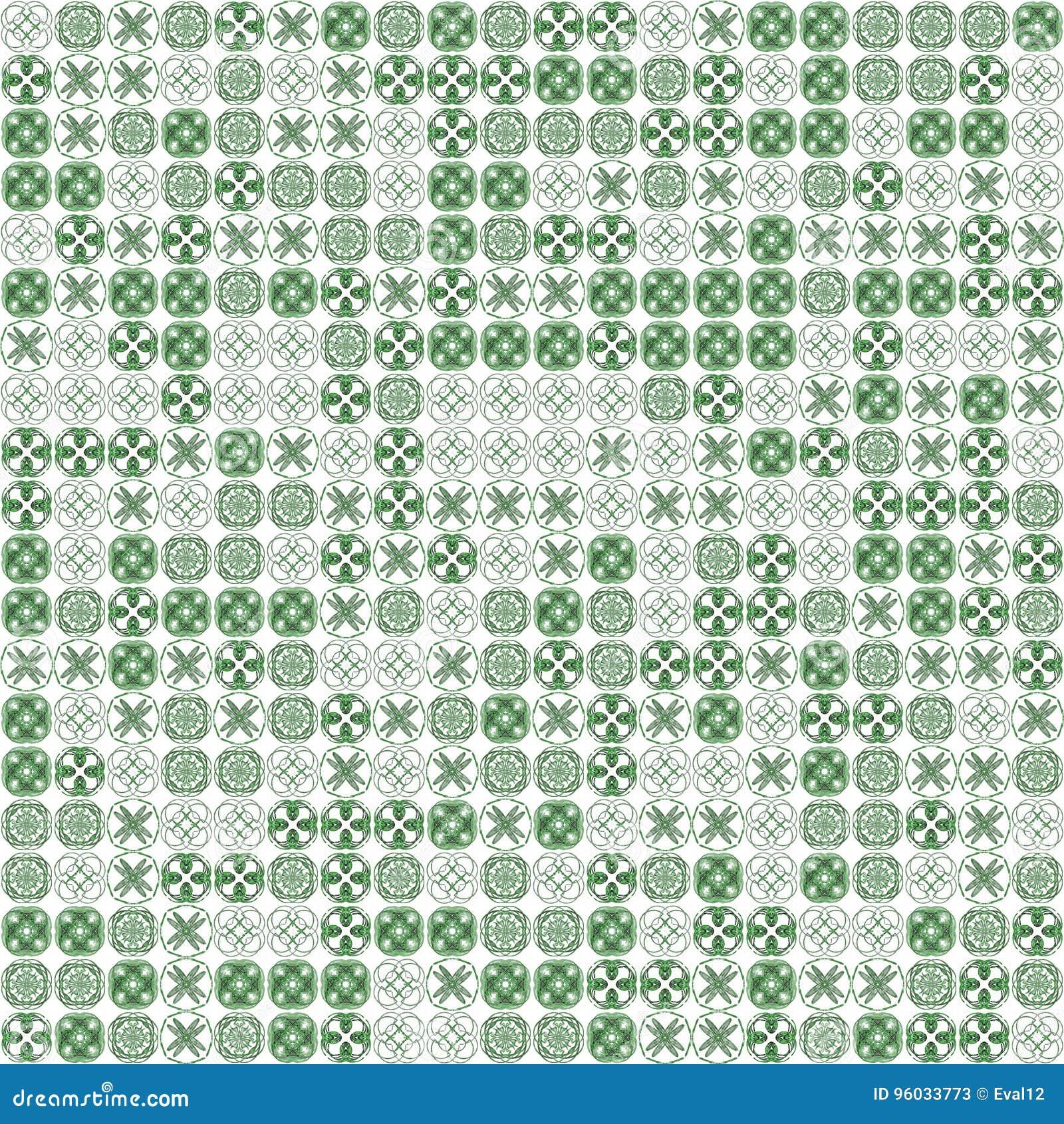 Abstrakcjonistyczni grunge zieleni tekstury fractal wzory