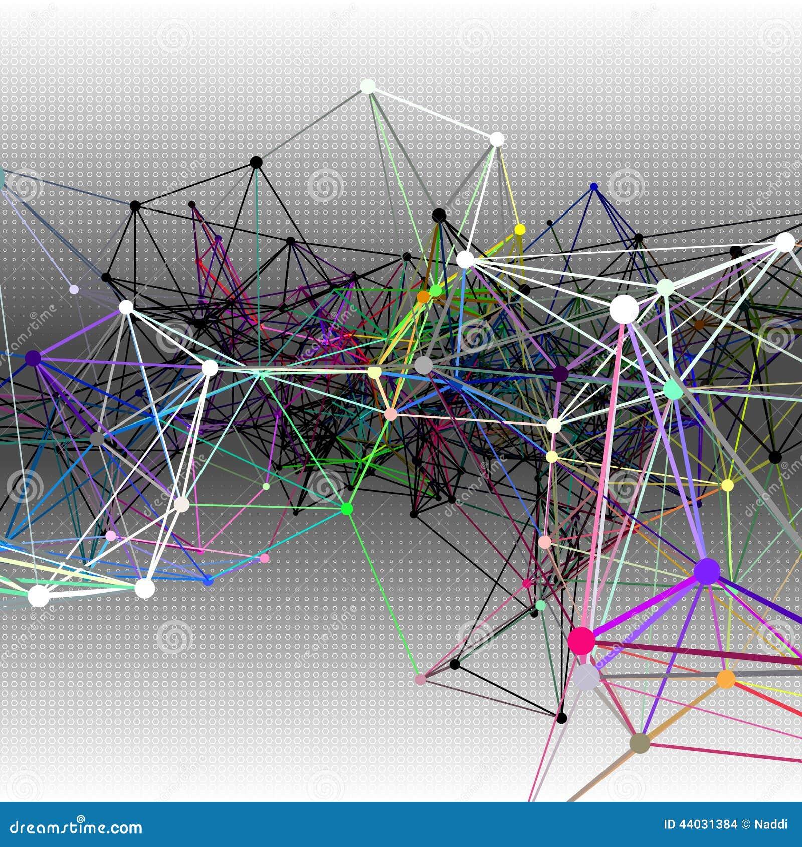 Abstrakcjonistyczni komunikacyjni tła ilustracja