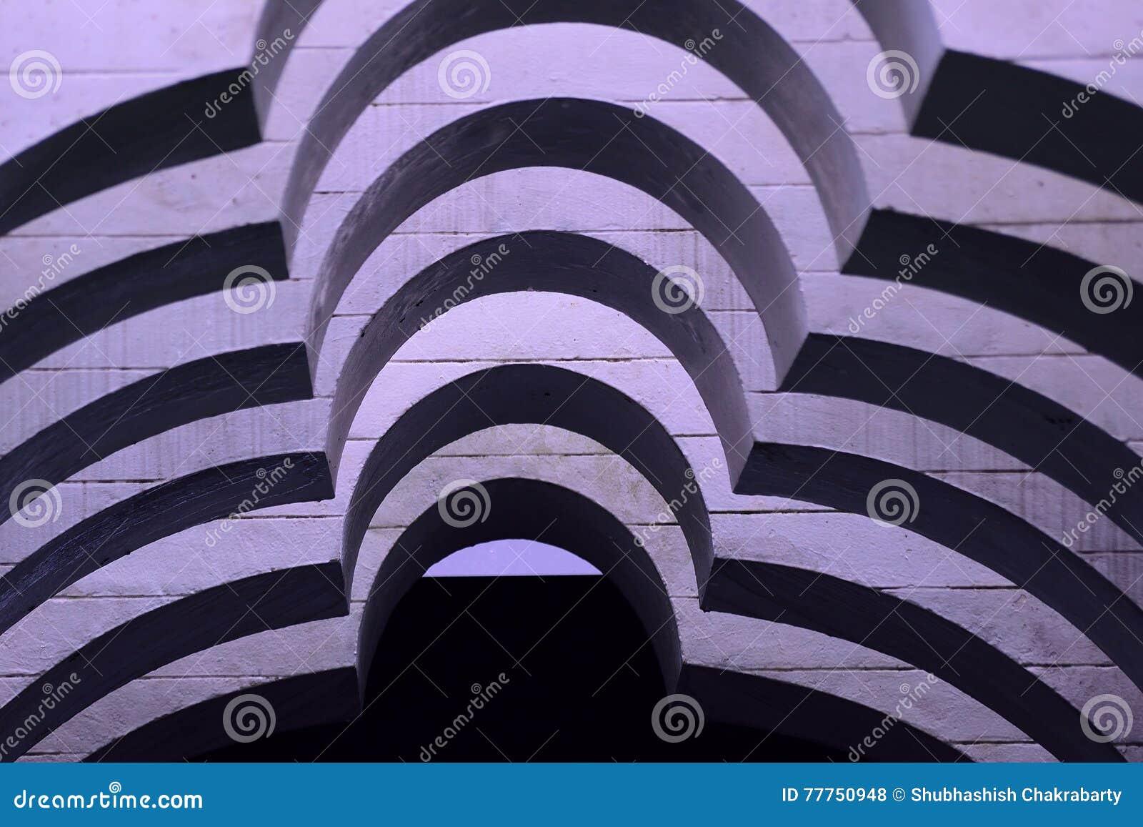 Abstrakcjonistyczni monochrom krzyw kształty