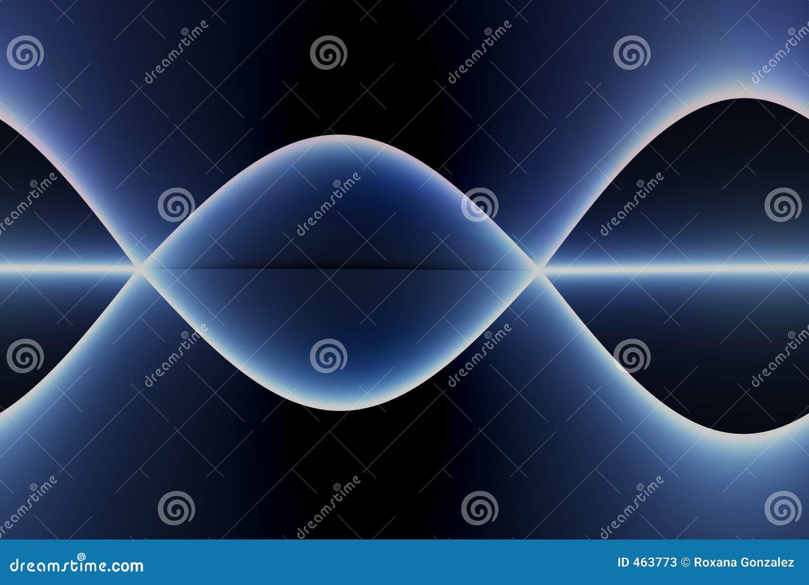 Abstrakcjonistyczni niebieskie sinewaves