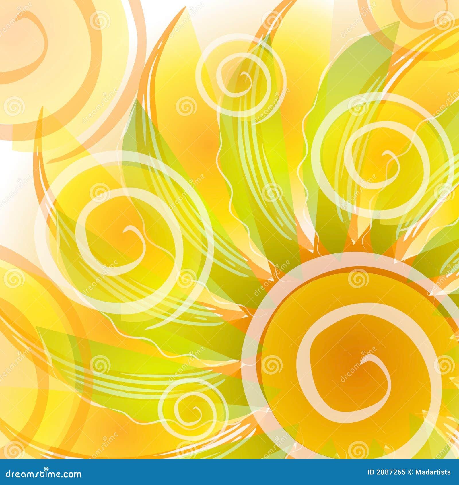 Abstrakcjonistyczni złota tła kwitnie