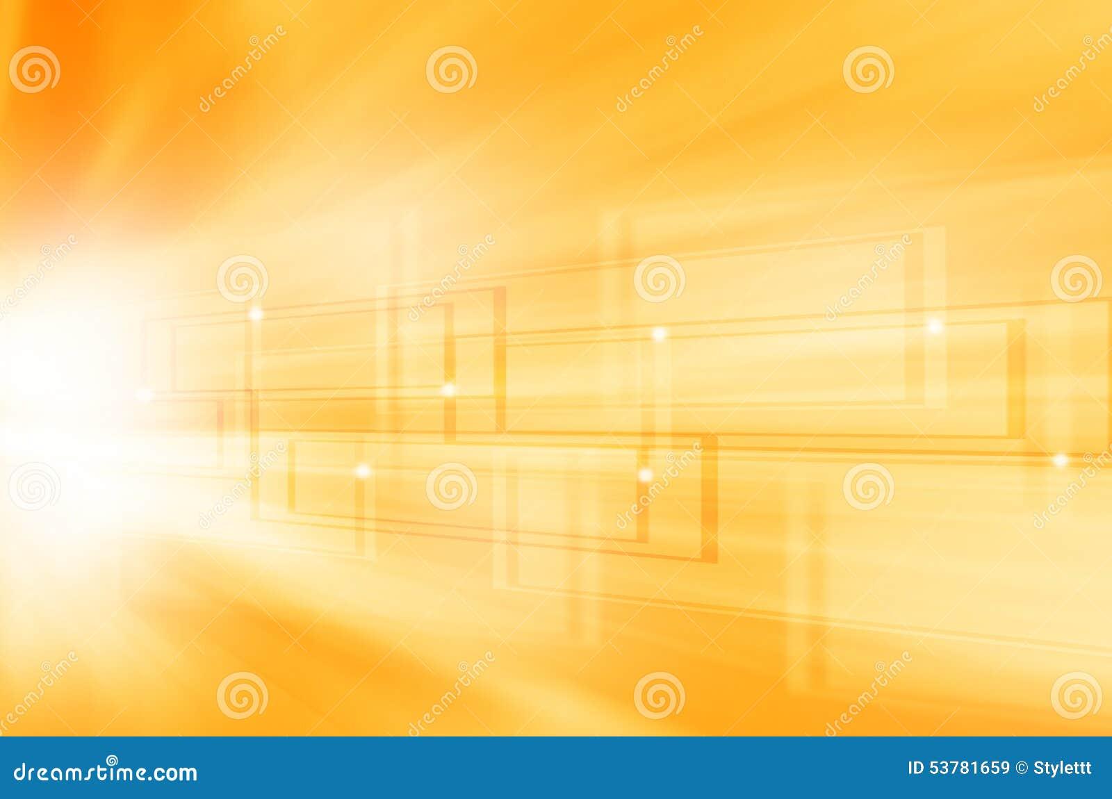 Abstrakcjonistyczny żółty technologii tło