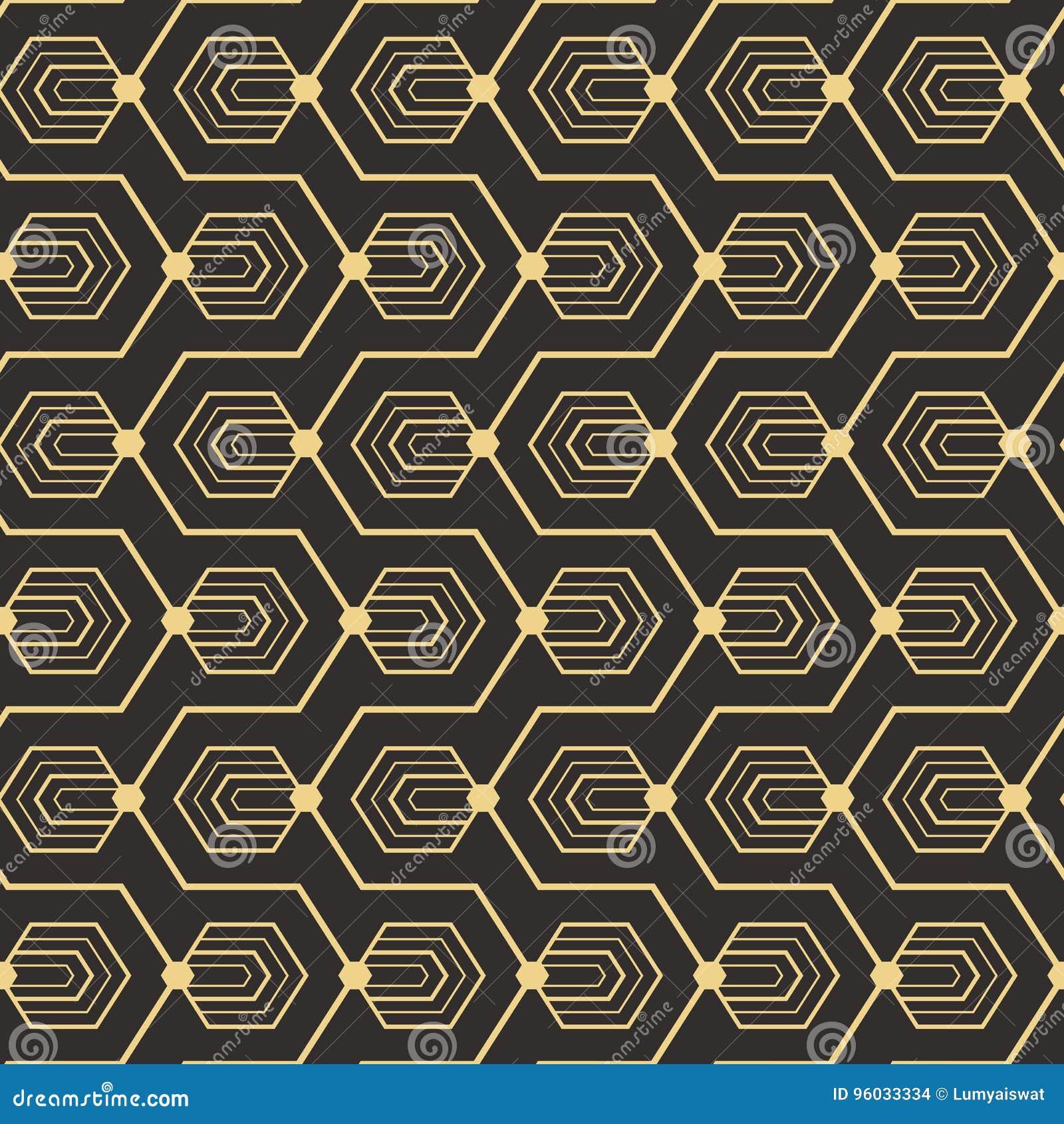 Abstrakcjonistyczny art deco bezszwowy pattern_1