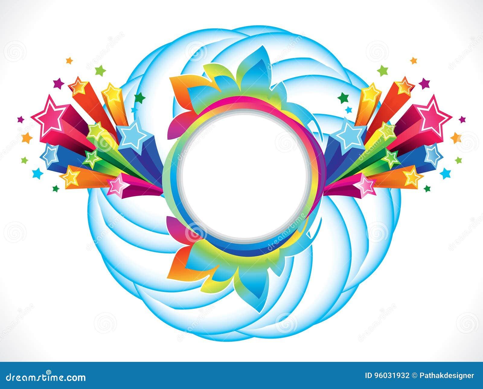 Abstrakcjonistyczny artystyczny kolorowy tęcza okrąg wybucha