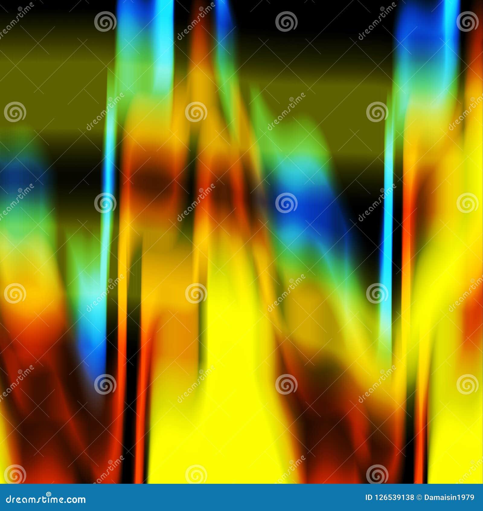 Abstrakcjonistyczny błękitnej zieleni pomarańczowy ciemny kolor żółty cieni tło, kolory, cienia abstrakta grafika tło abstrakcjon