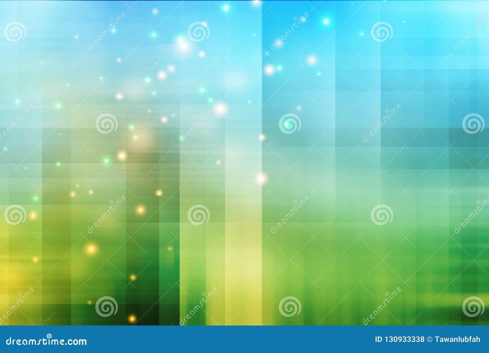 Abstrakcjonistyczny błękitny i zielony tło z błyskotliwością Technologia plecy