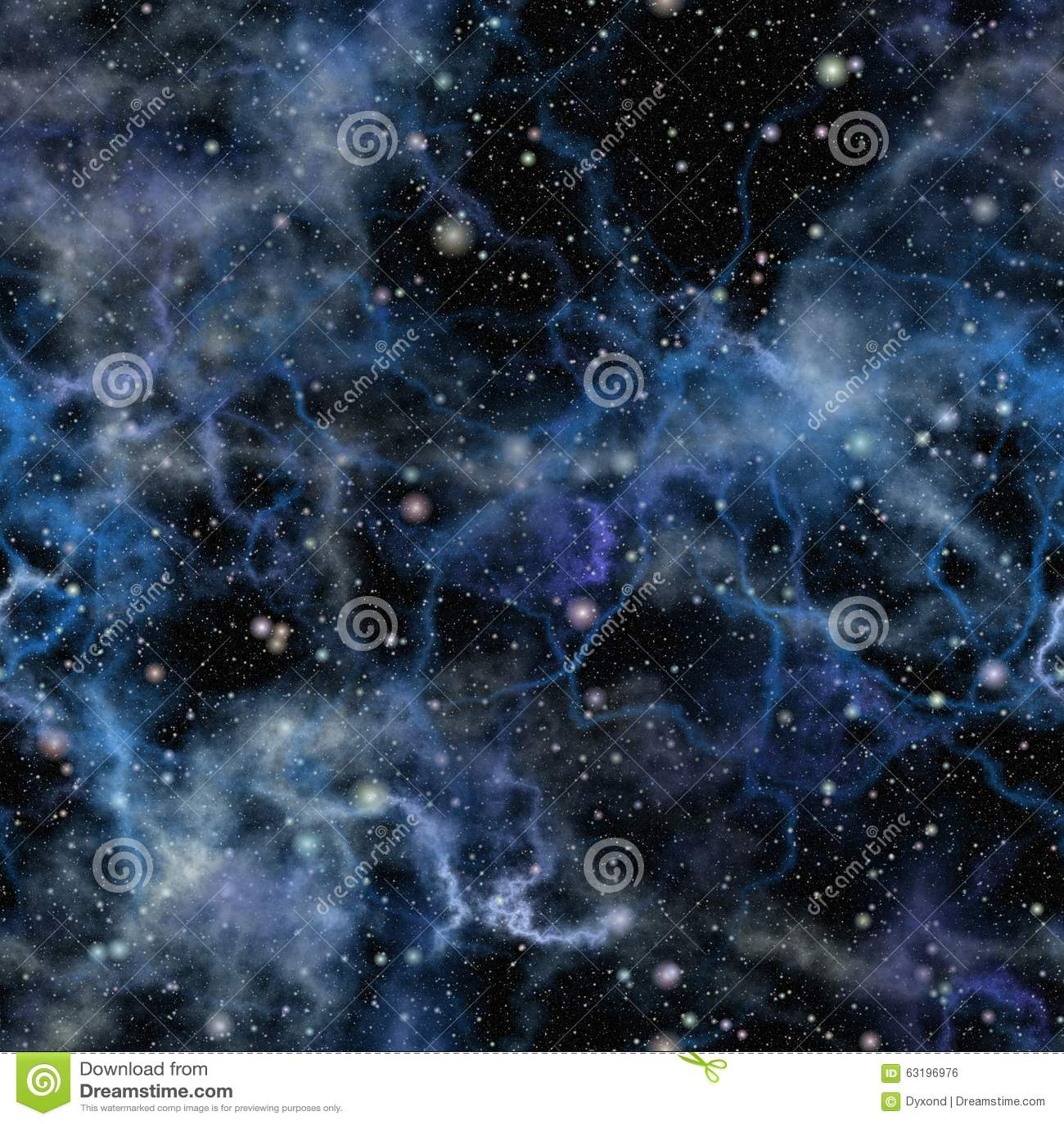 Abstrakcjonistyczny błękitny wszechświat ilustraci bezszwowy linowy