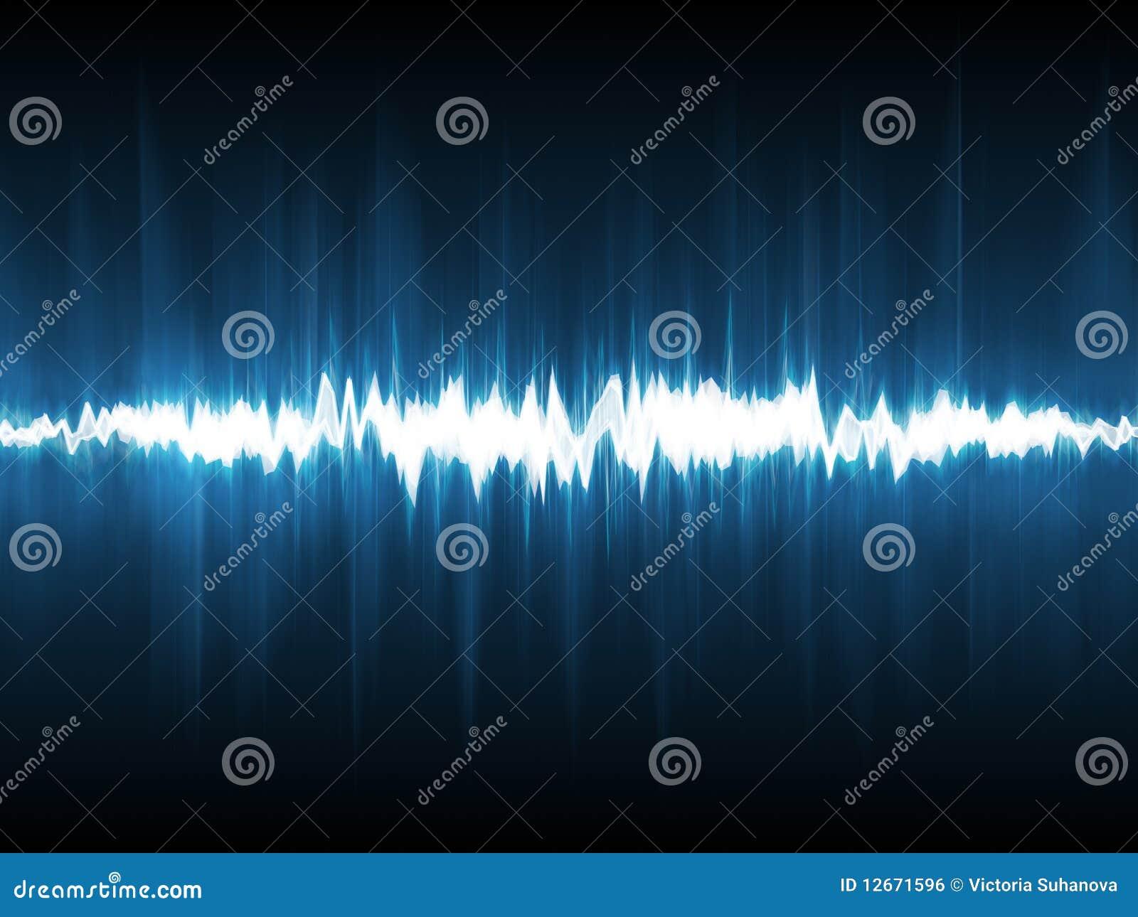 Abstrakcjonistyczny błyskawicowy waveform