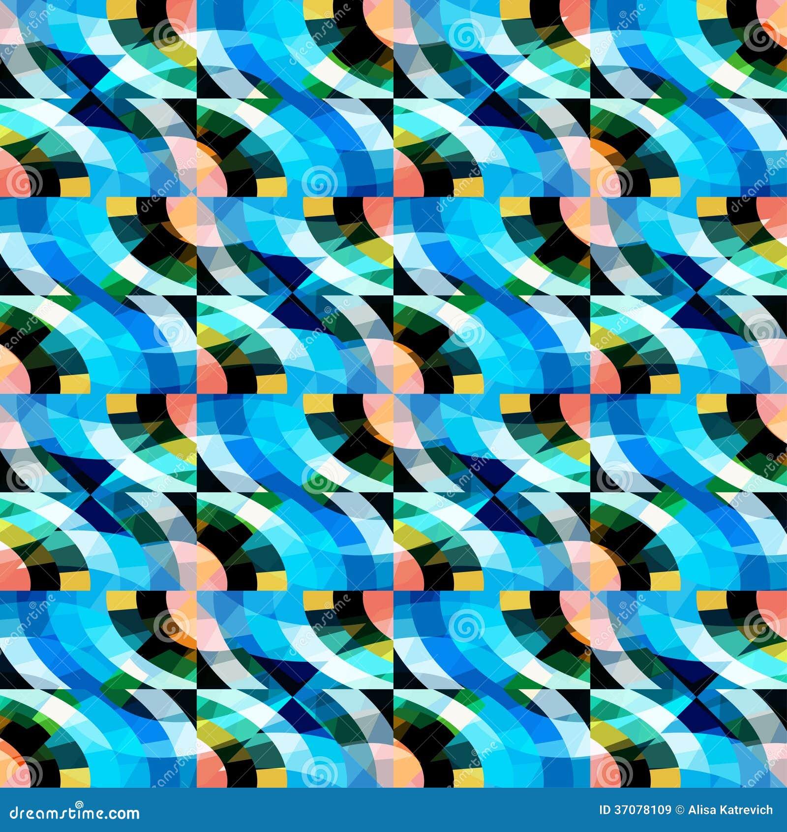 Download Abstrakcjonistyczny Bezszwowy Mozaika Wzór Ilustracja Wektor - Ilustracja złożonej z tło, element: 37078109