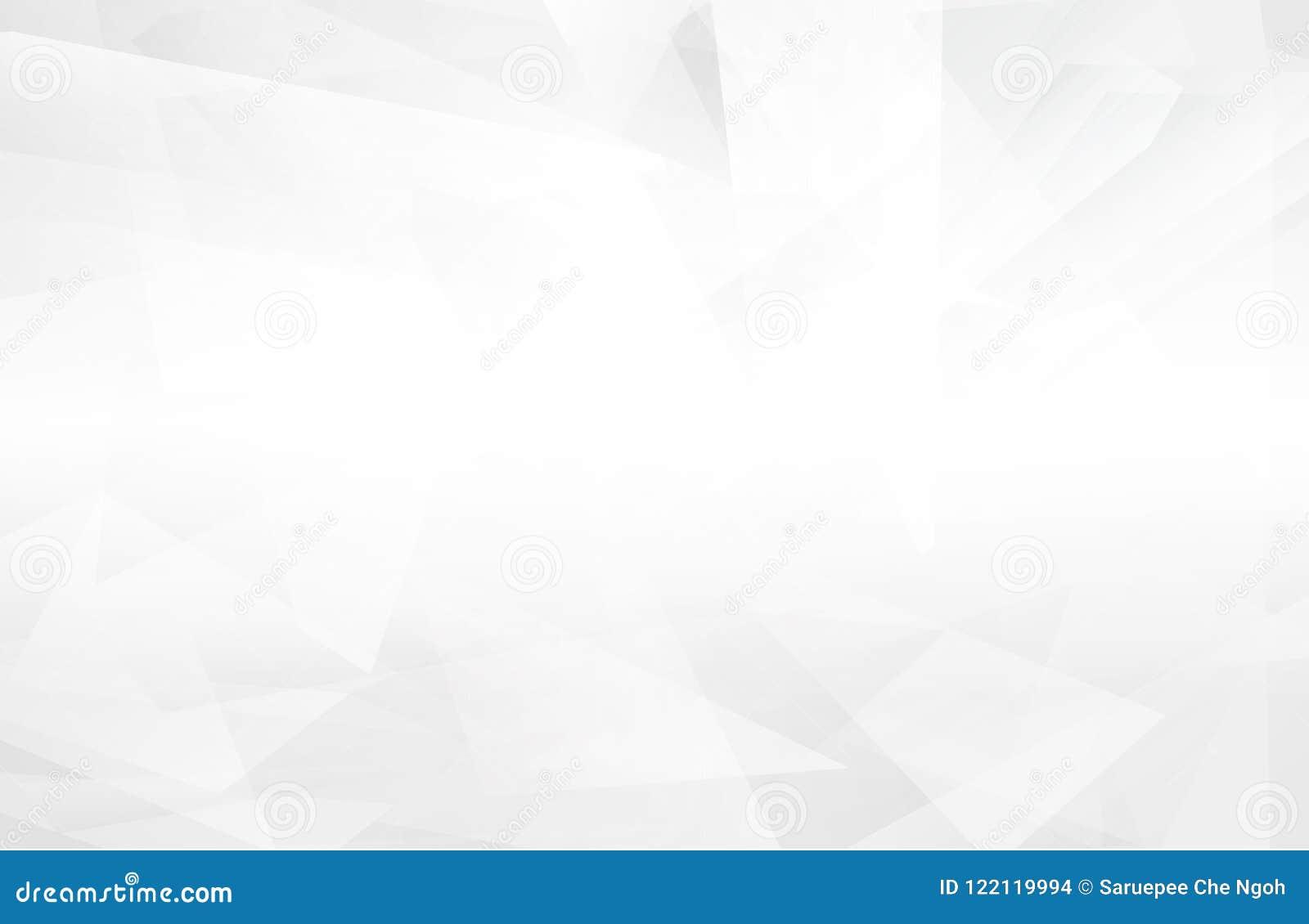Abstrakcjonistyczny biały wnętrze podkreśla przyszłość szary tło, Lowpoly tło z przestrzenią Białego papieru wieloboka nowożytny