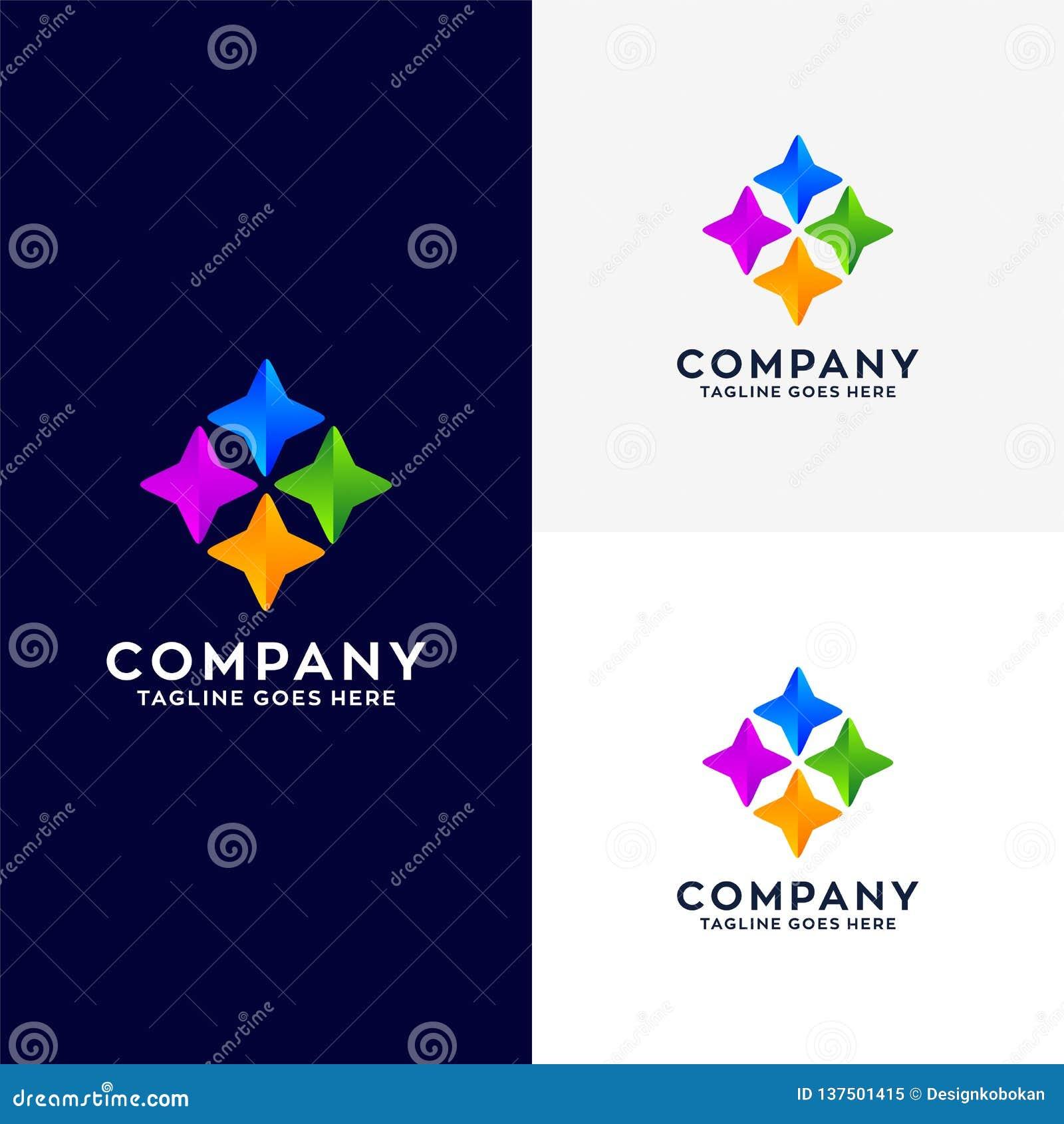 Abstrakcjonistyczny Biznesowy logo projekt