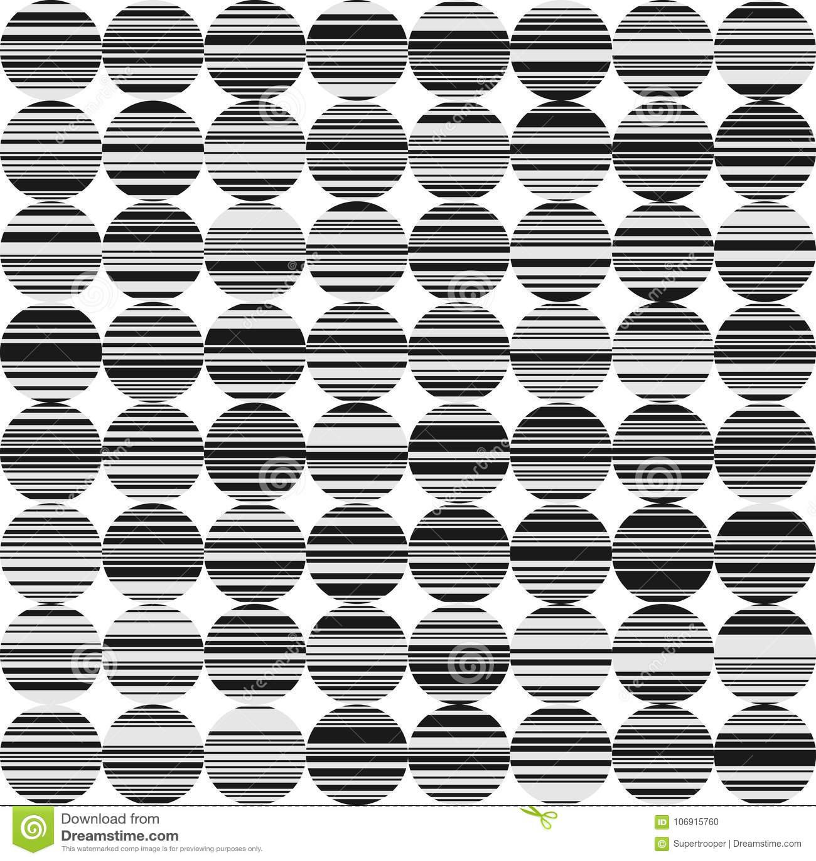 Abstrakcjonistyczny BW tło z okręgami i liniami