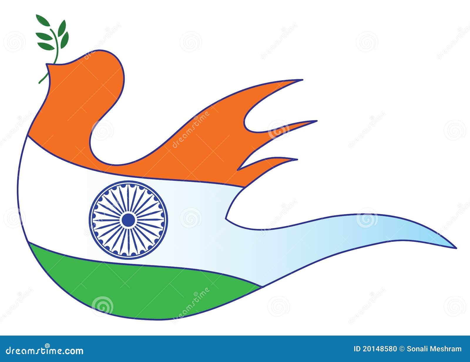 Abstrakcjonistyczny chorągwiany hindus