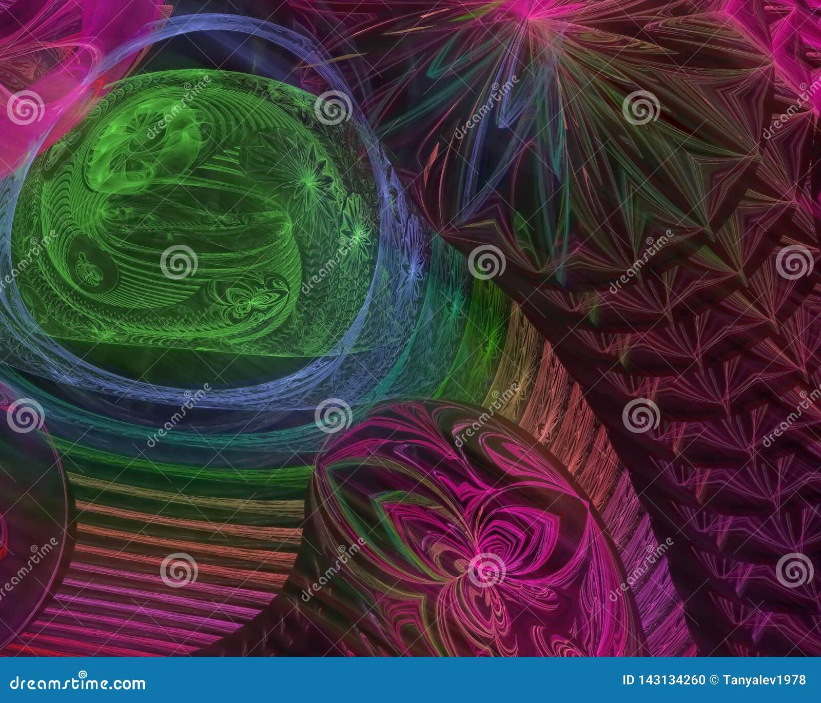 Abstrakcjonistyczny cyfrowy fractal kreatywnie, odpłaca się odpłaca się futurystyczny artystycznego, elegancja, dynamiczna