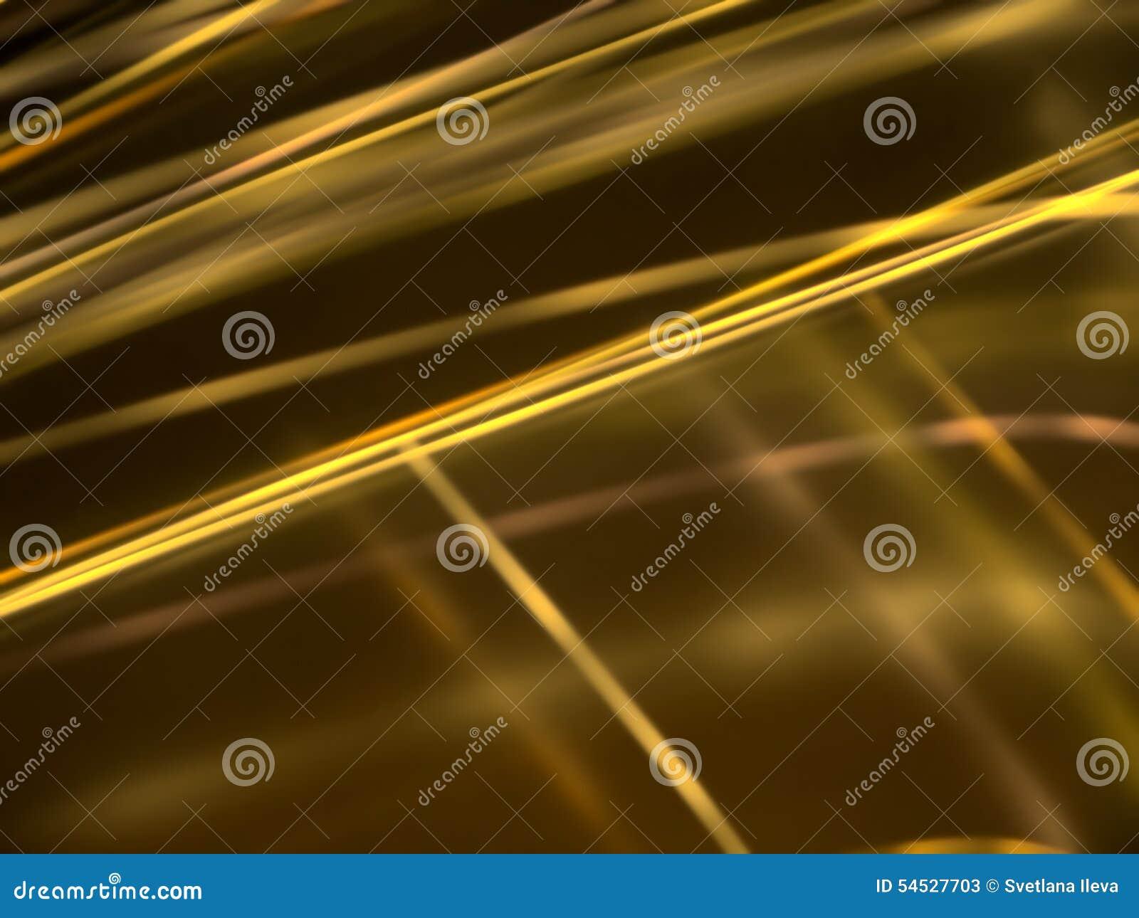 Abstrakcjonistyczny czarny tło z złocistymi świecącymi liniami
