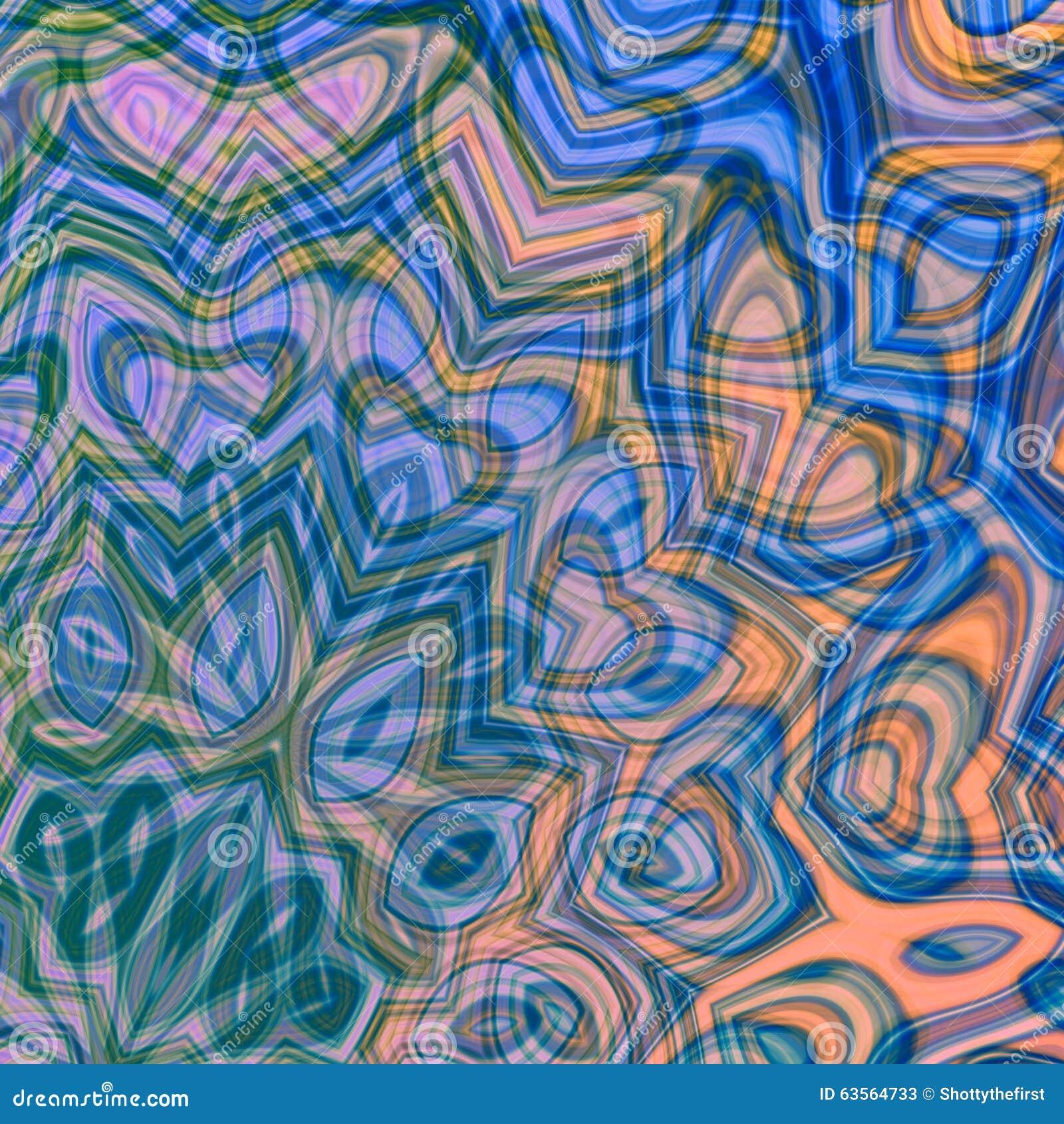 Abstrakcjonistyczny delikatny błękitny tło Jaskrawa zawijas sztuka Deseniowy dziwny styl