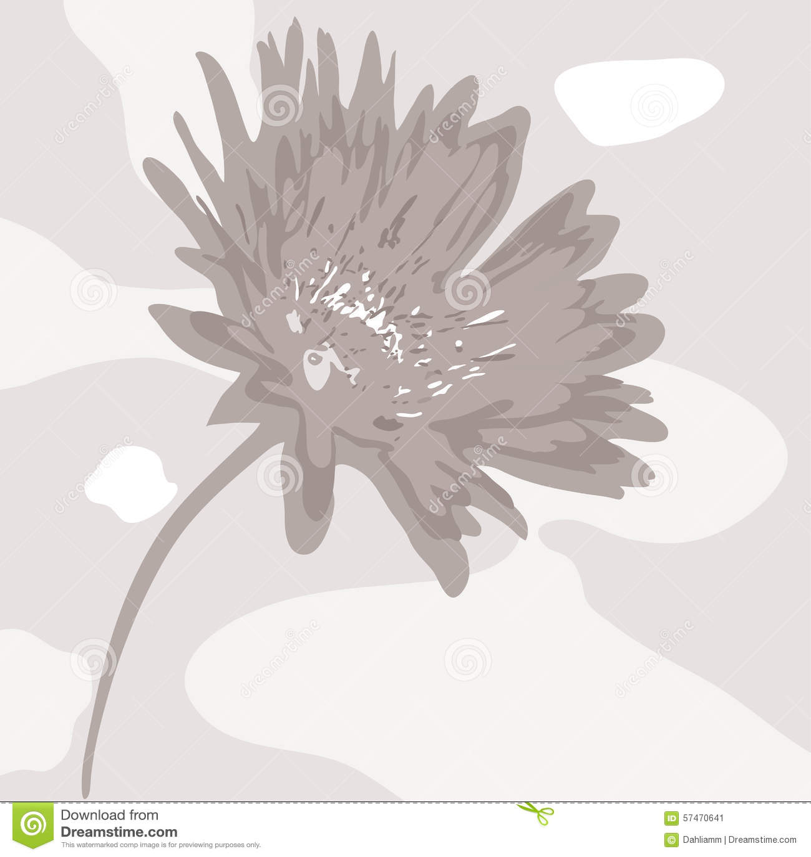 Abstrakcjonistyczny desaturated kwiat