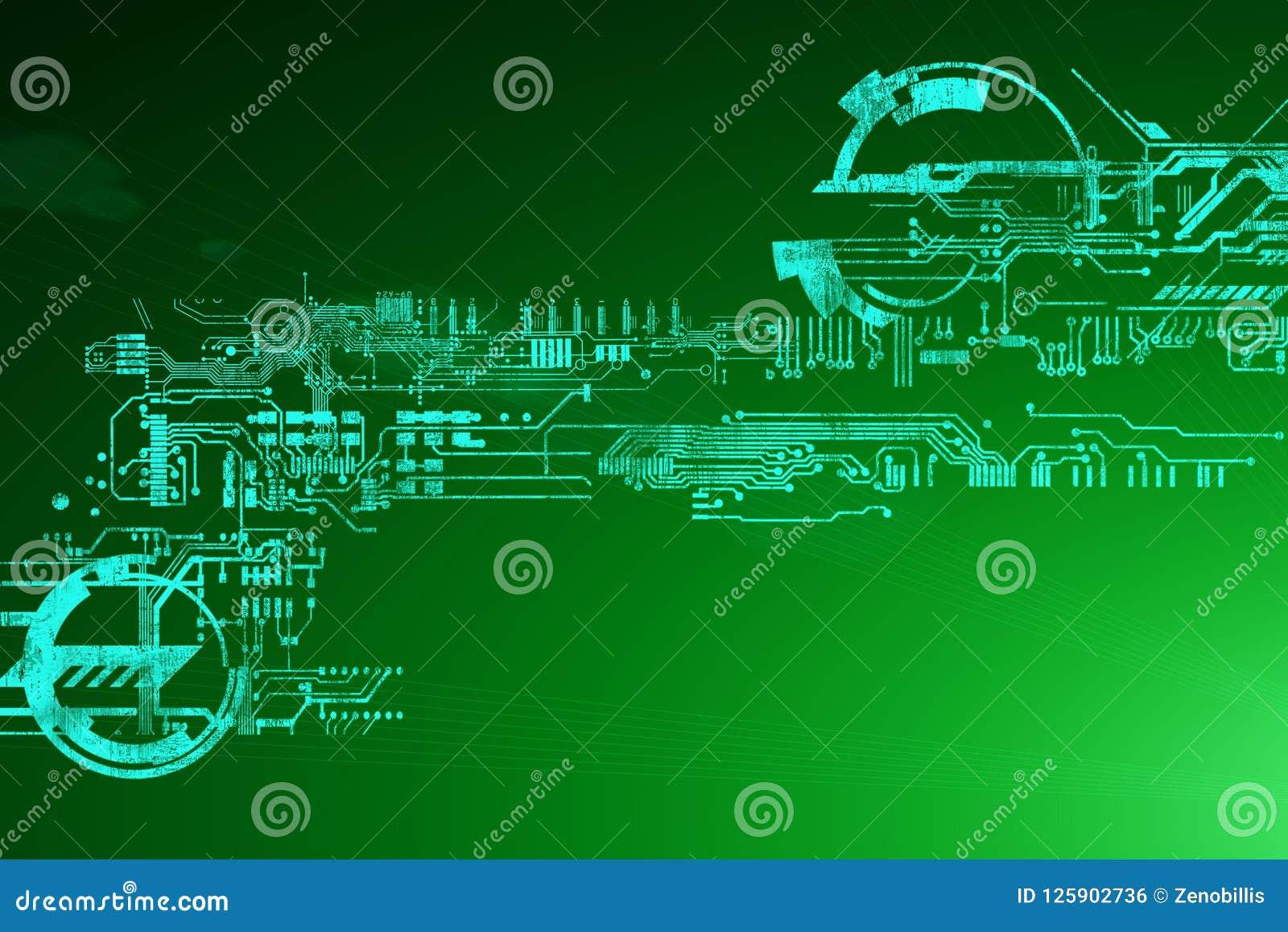 Abstrakcjonistyczny futurystyczny cyber technologii tło Fantastyka naukowa obwodu projekt Cześć techniki technologia Cyber hud pu