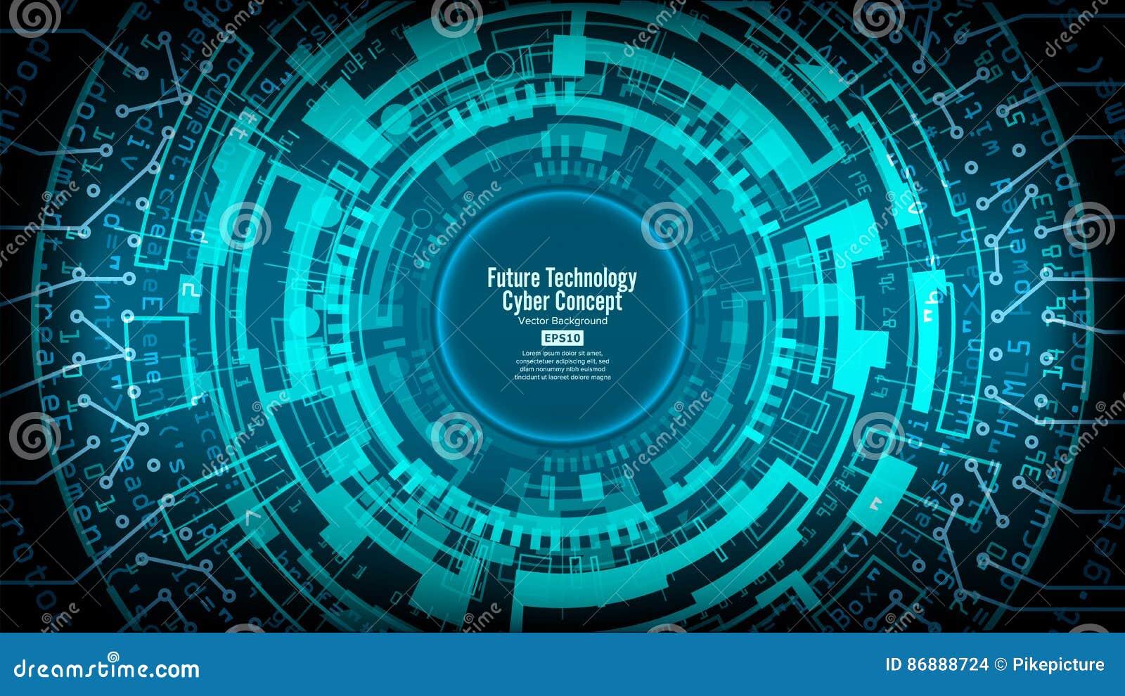 Abstrakcjonistyczny Futurystyczny Technologiczny tło wektor Cześć prędkości Cyfrowego projekt Ochrony sieci tło