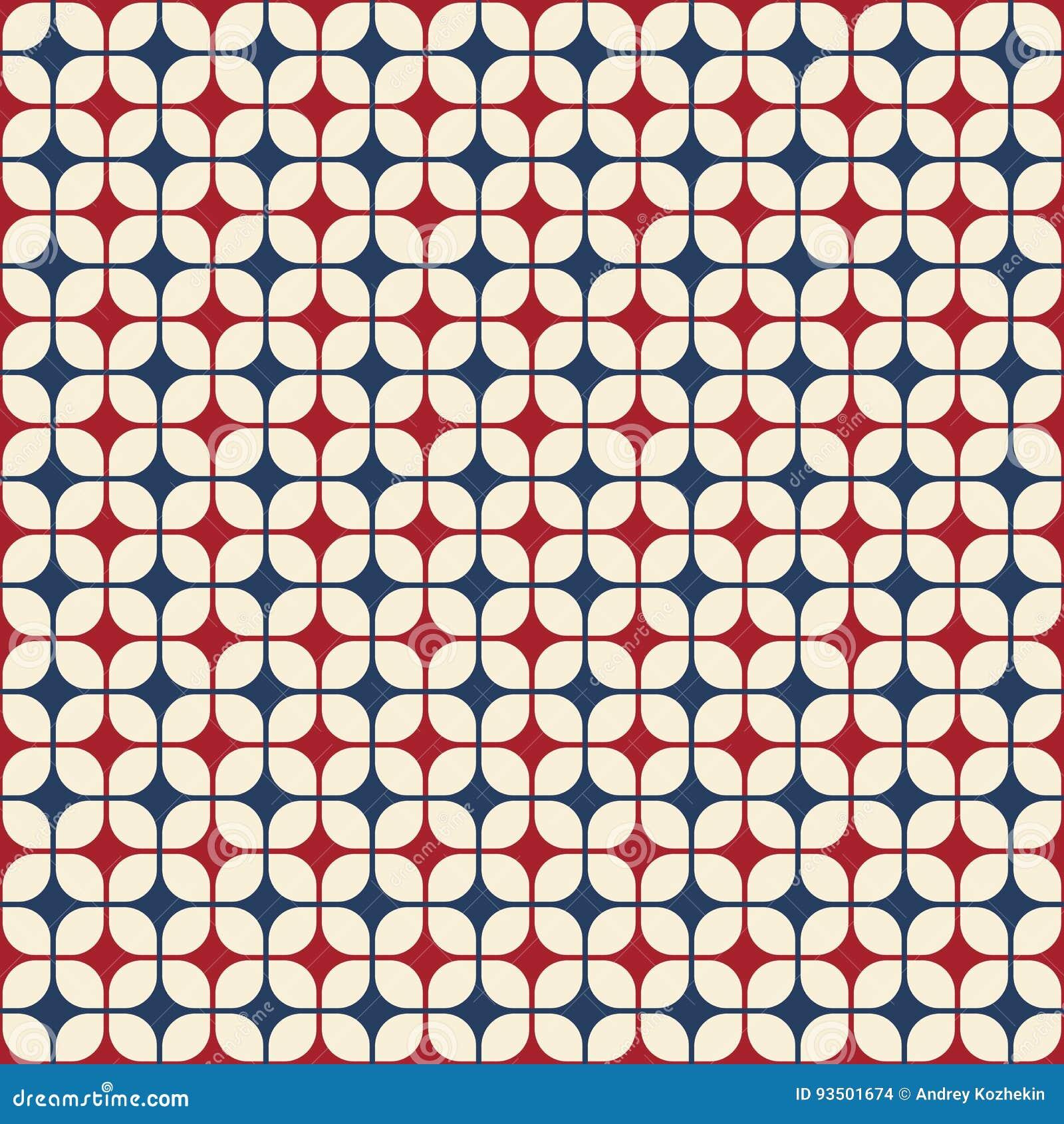 Abstrakcjonistyczny geometryczny deseniowy bezszwowy