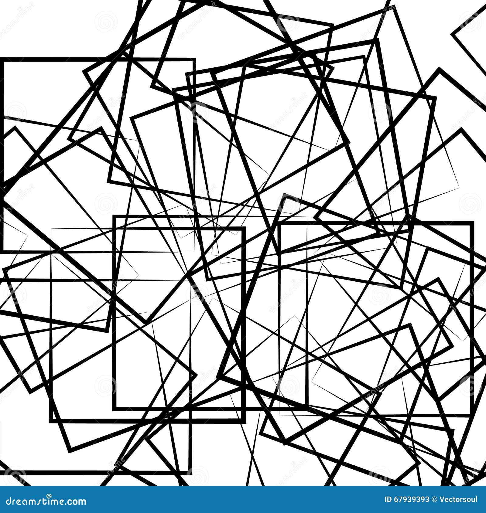 Abstrakcjonistyczny geometryczny sztuka wizerunek Monochrom czarny i biały