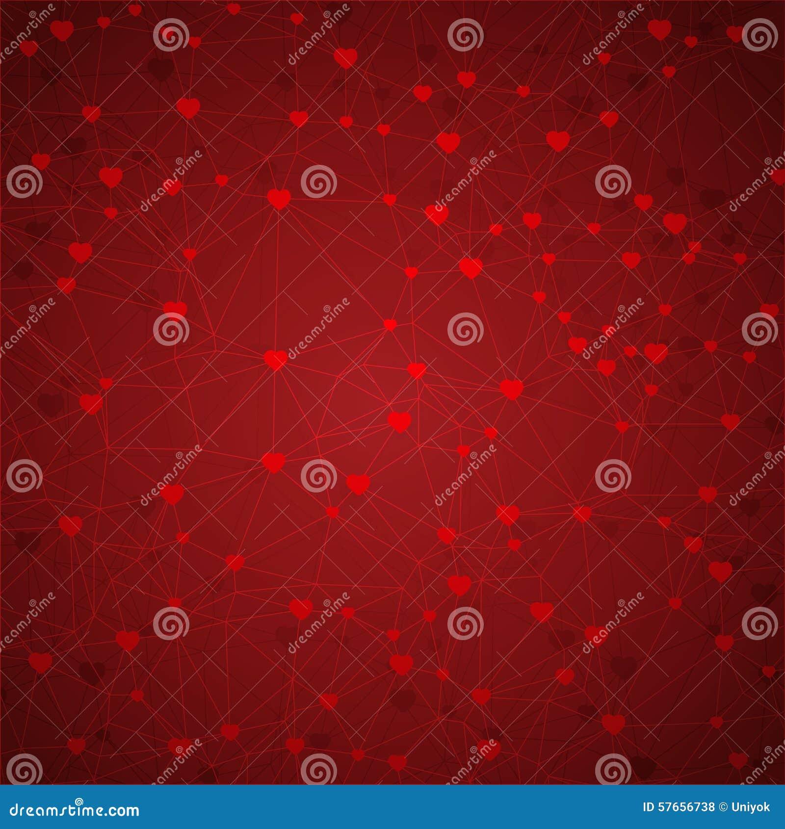 Abstrakcjonistyczny geometryczny tło linie i serca