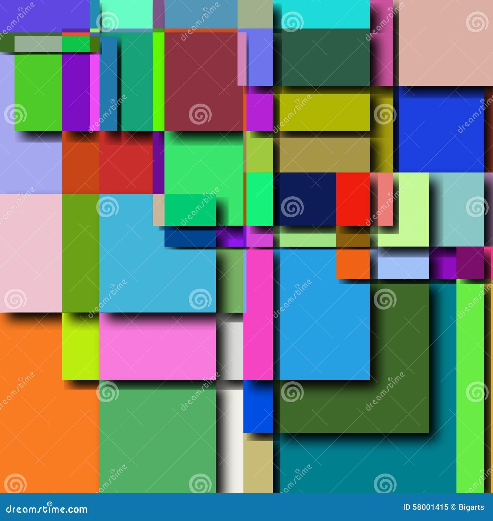 Abstrakcjonistyczny geometryczny tło wzór