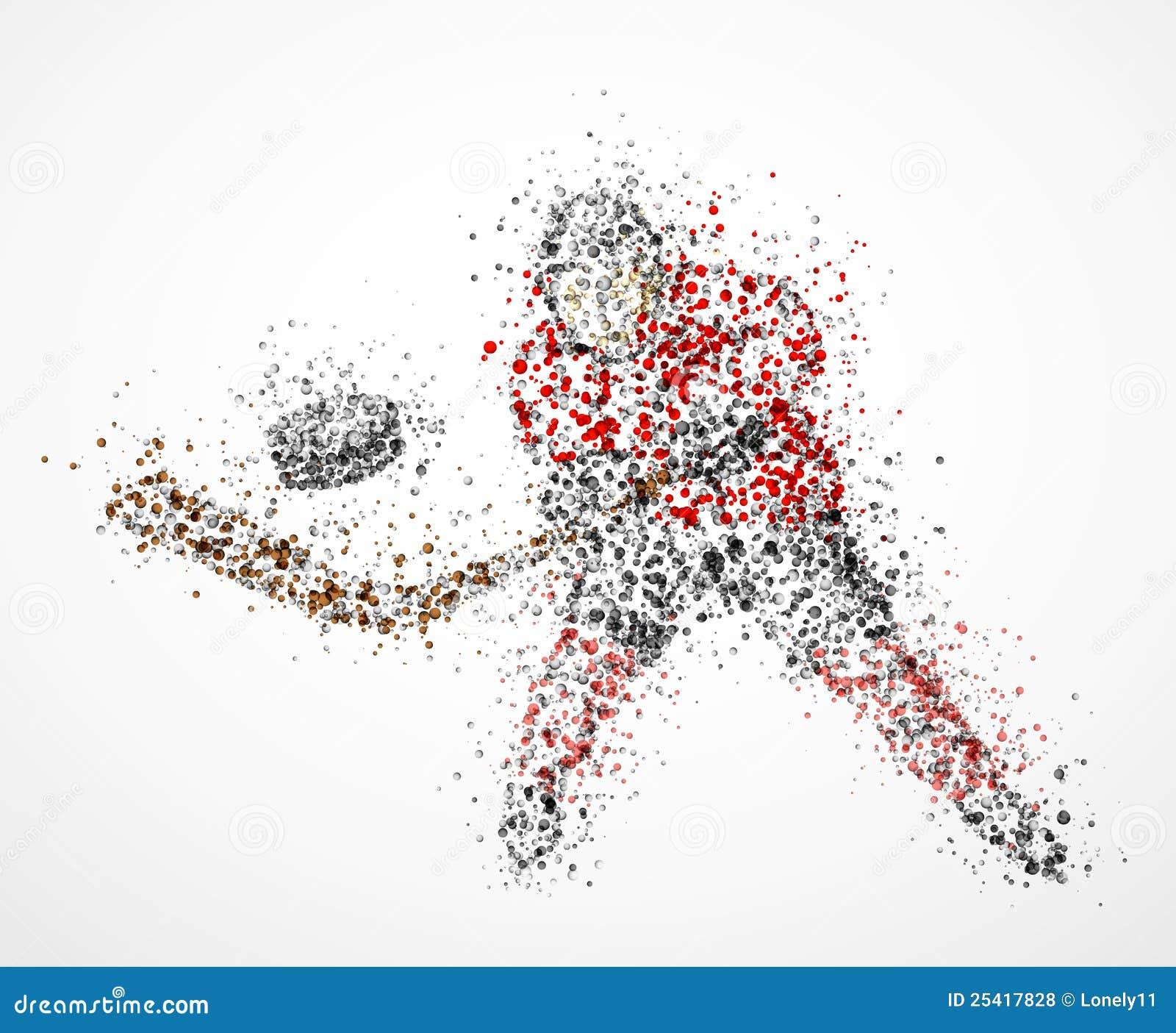 Abstrakcjonistyczny gracz w hokeja