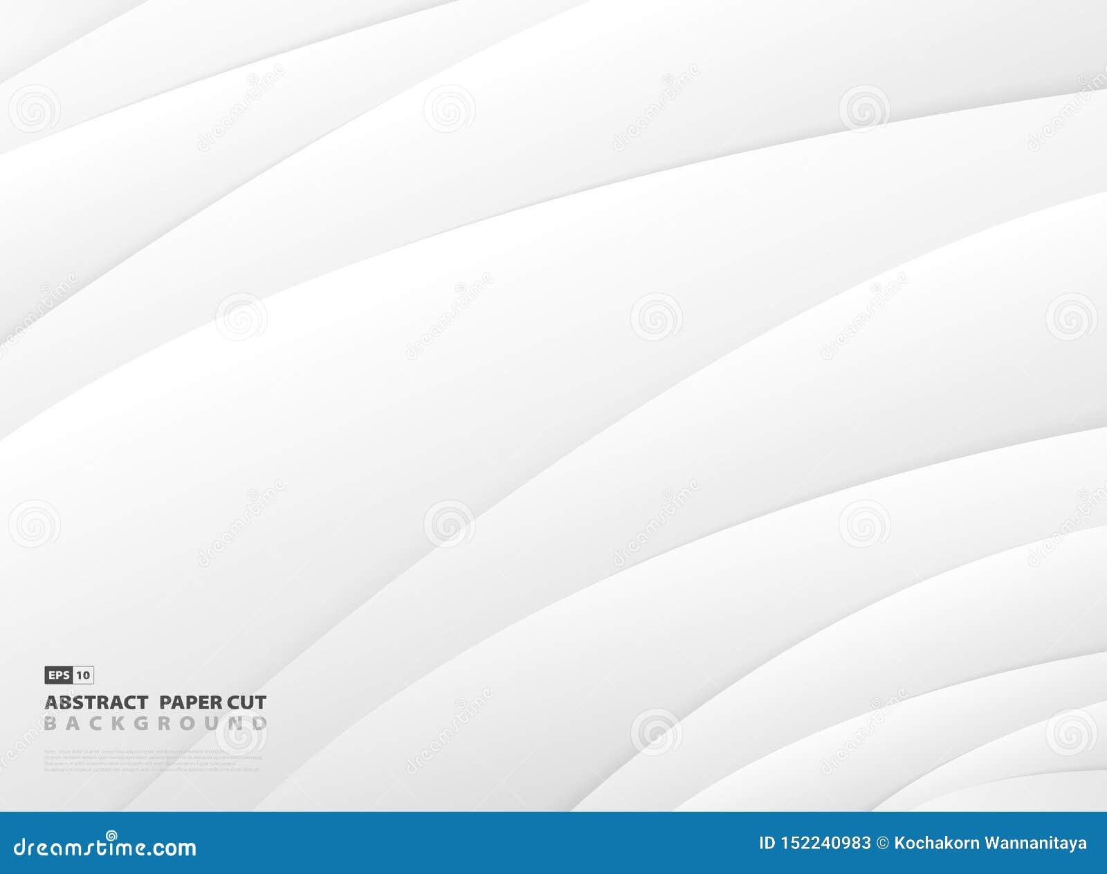 Abstrakcjonistyczny gradientowy szarość i bielu lampasa linii wzór projektuje tło eps10 kwiat