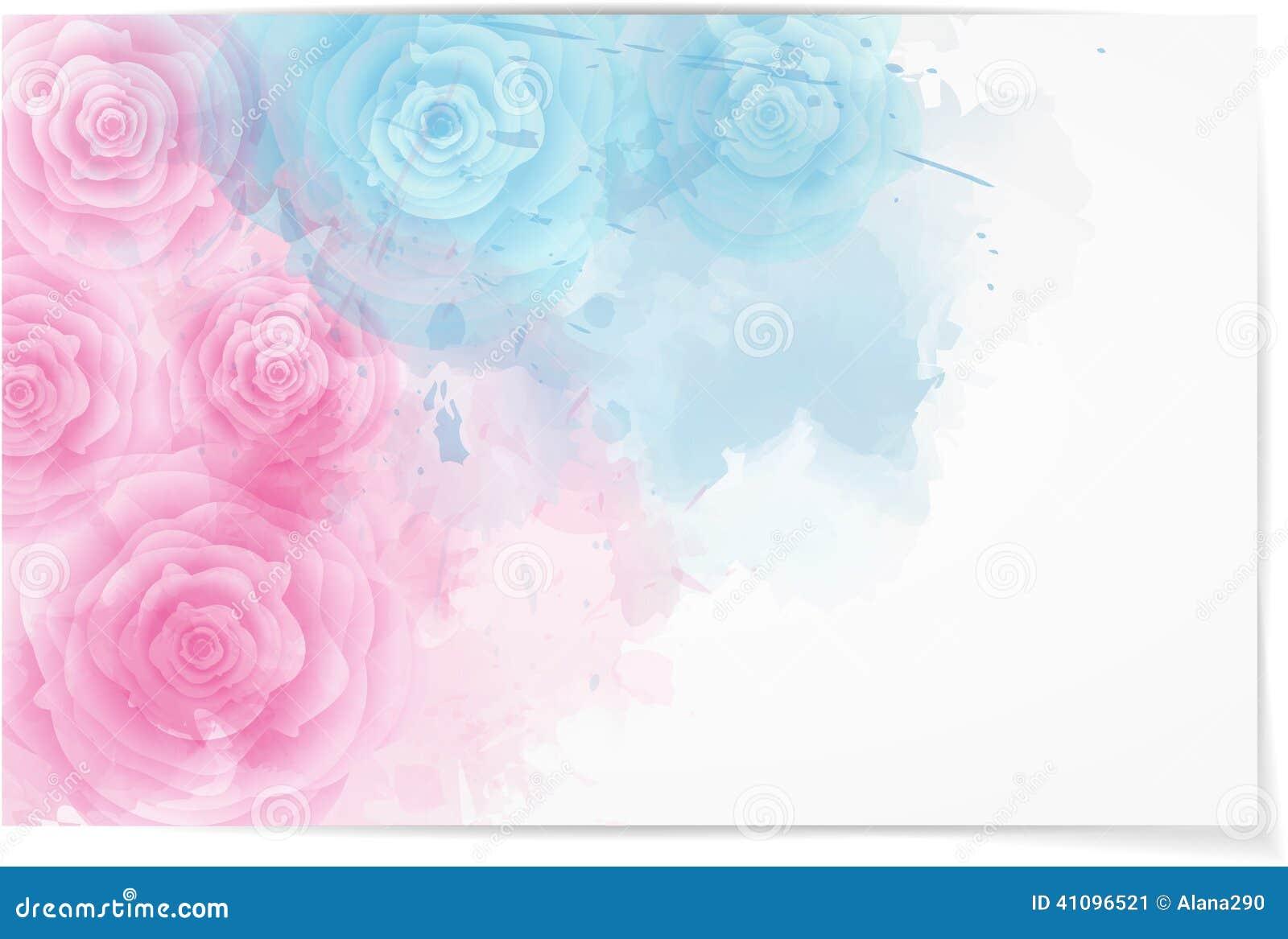 Abstrakcjonistyczny horyzontalny tło z różami