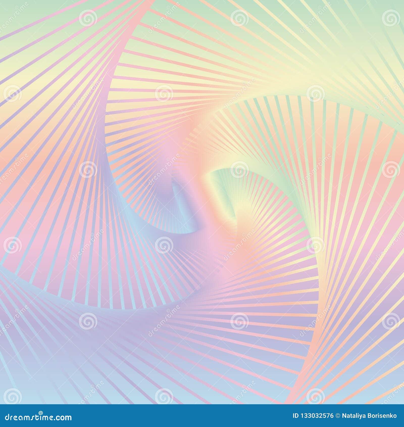 Abstrakcjonistyczny kolorowy ślimakowaty tło Wizerunek skręcanie wykłada dalej