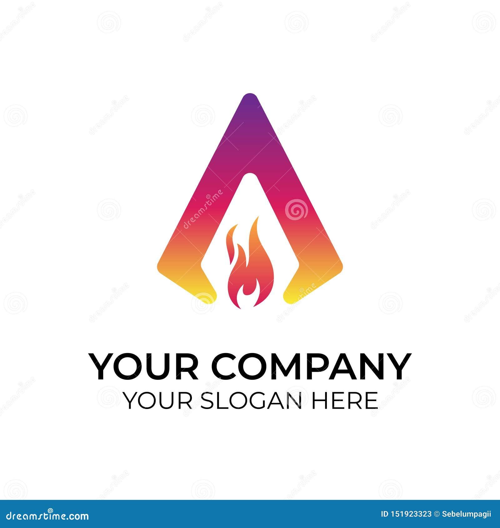 Abstrakcjonistyczny kolorowy logo