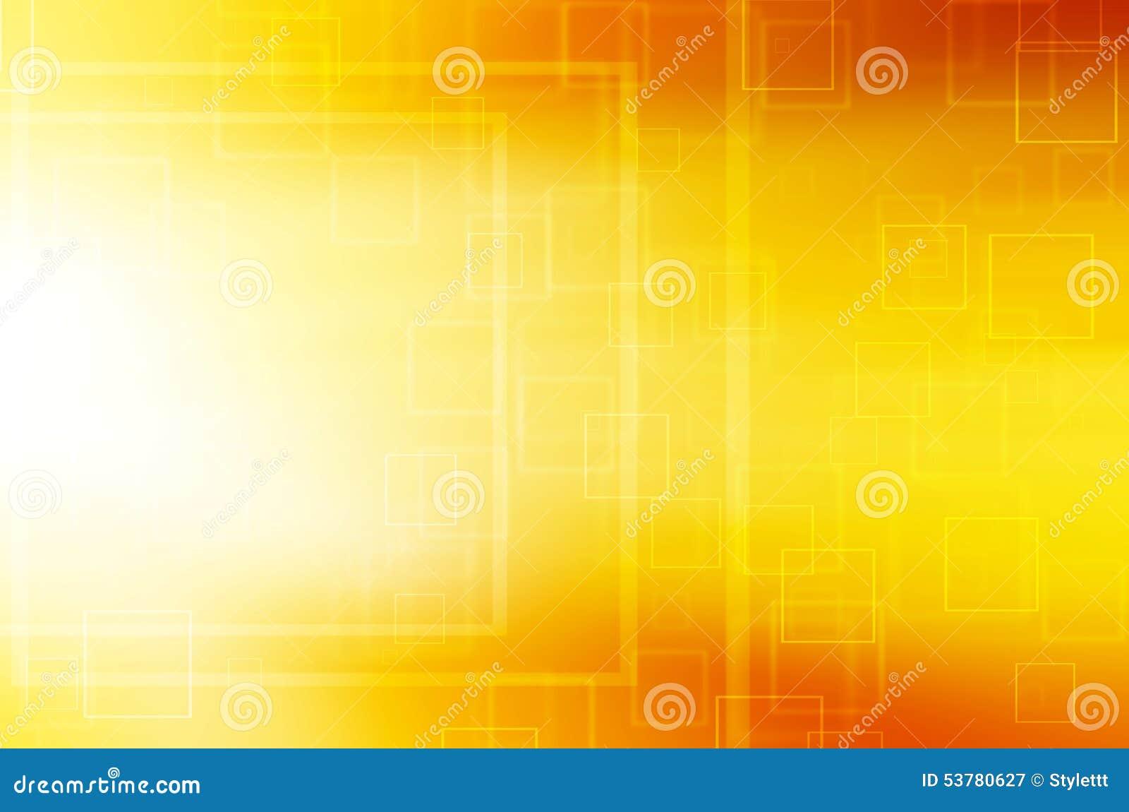 Abstrakcjonistyczny koloru żółtego kwadrata techniki tło