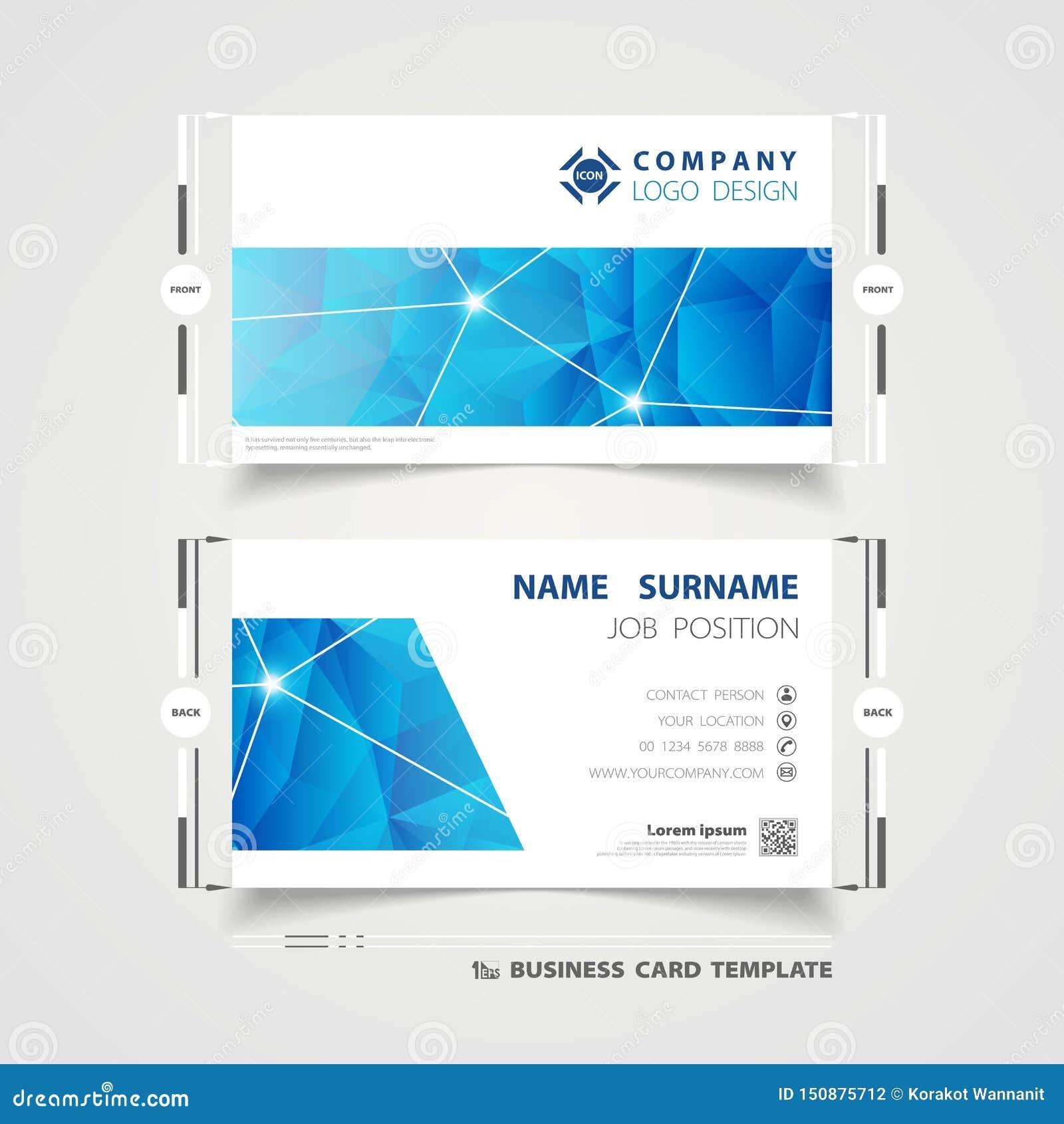 Abstrakcjonistyczny korporacyjny błękitny technologii imię karty szablonu projekt dla biznesu Ilustracyjny wektor eps10