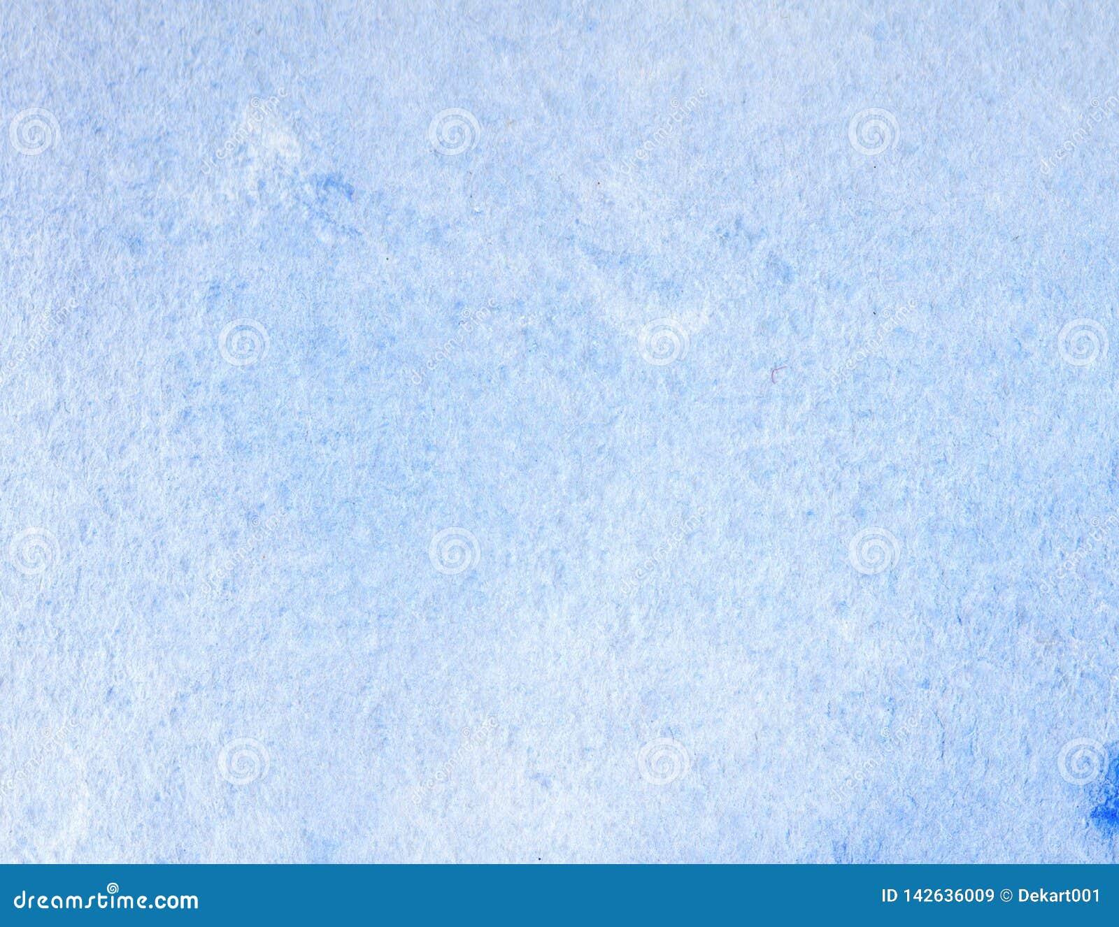 Abstrakcjonistyczny kreatywnie watercolour malujący tło z błękitnymi obmycie warstwami Miękki niebo i morze, lód