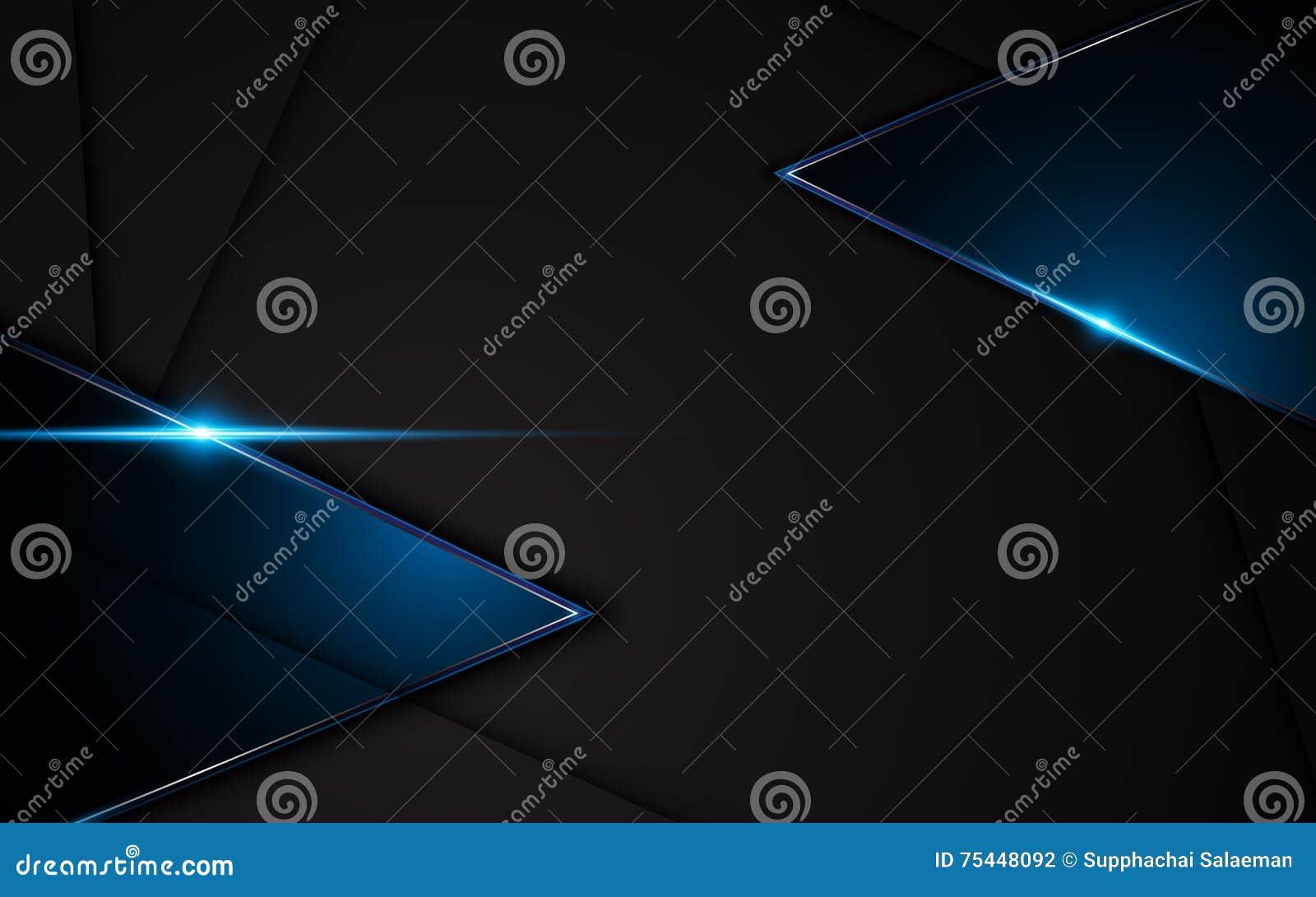 Abstrakcjonistyczny kruszcowy czarny błękit ramy sporta projekta pojęcia innowaci tło