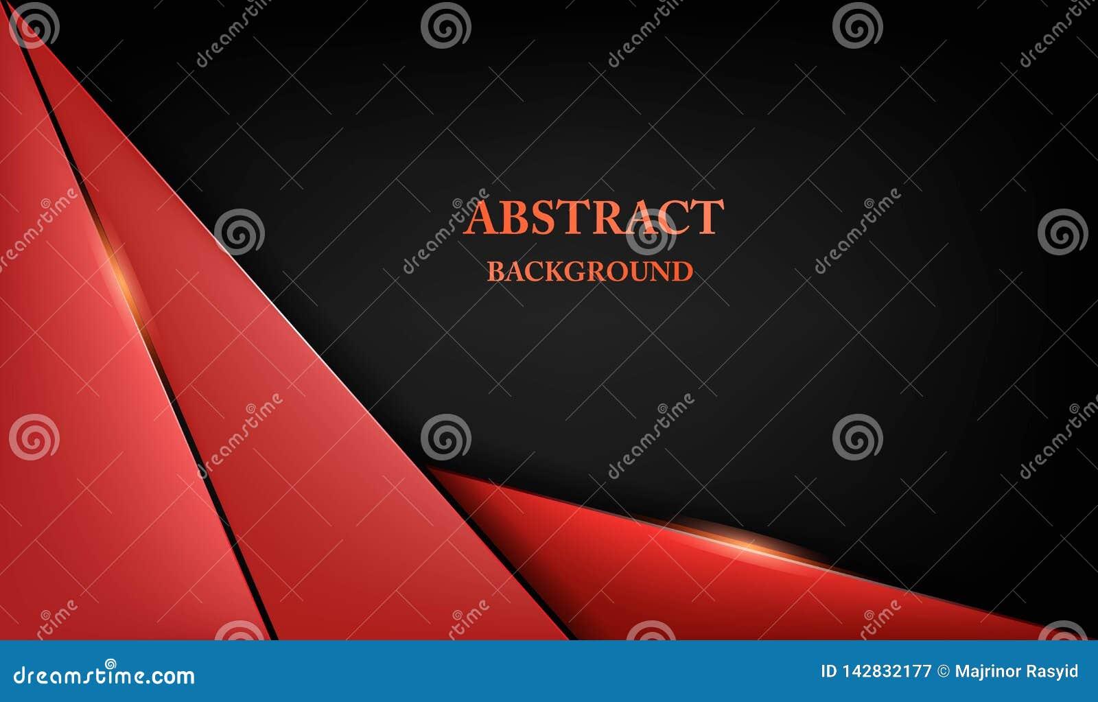 Abstrakcjonistyczny kruszcowy czerwony czerni ramy układu projekta techniki innowaci pojęcia tło