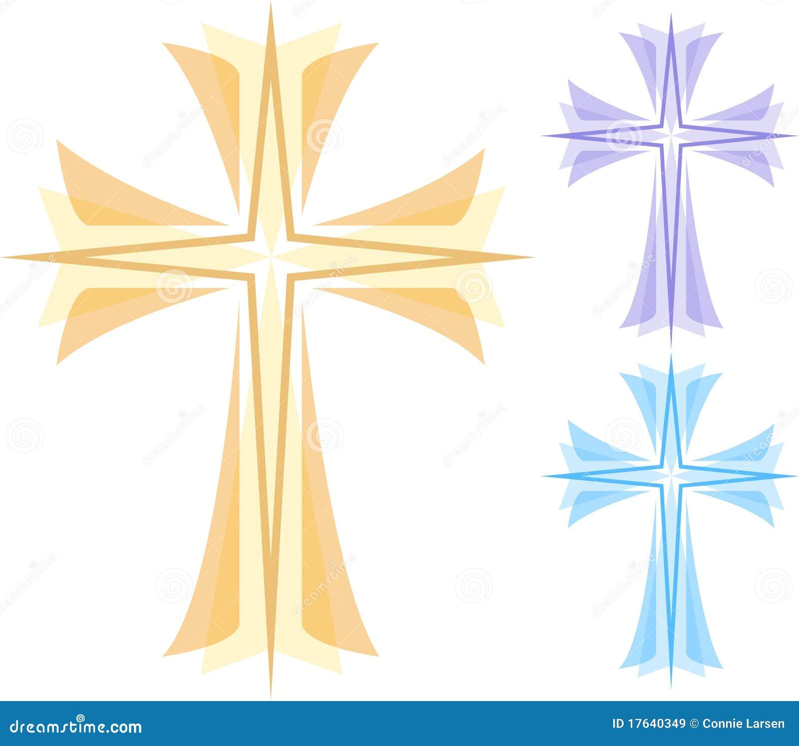 Abstrakcjonistyczny krzyż eps
