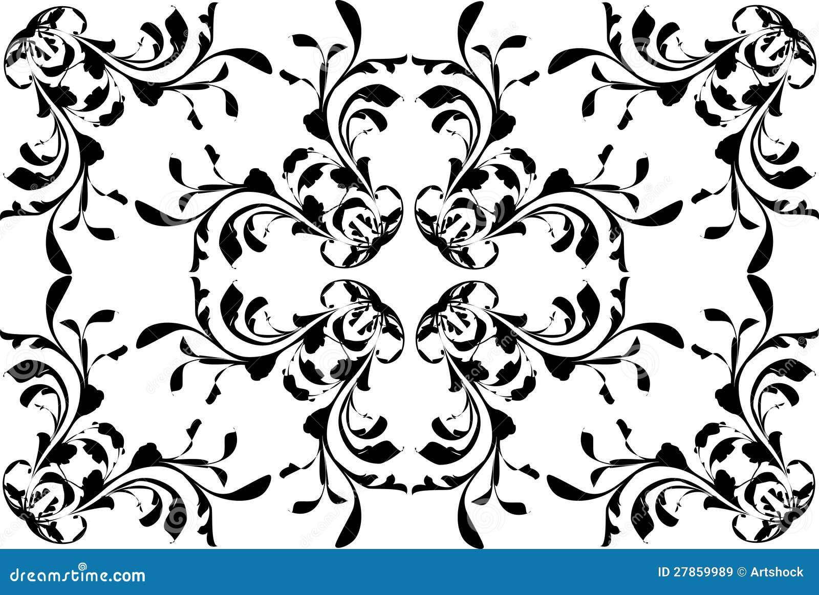 Abstrakcjonistyczny kwiatu wzór