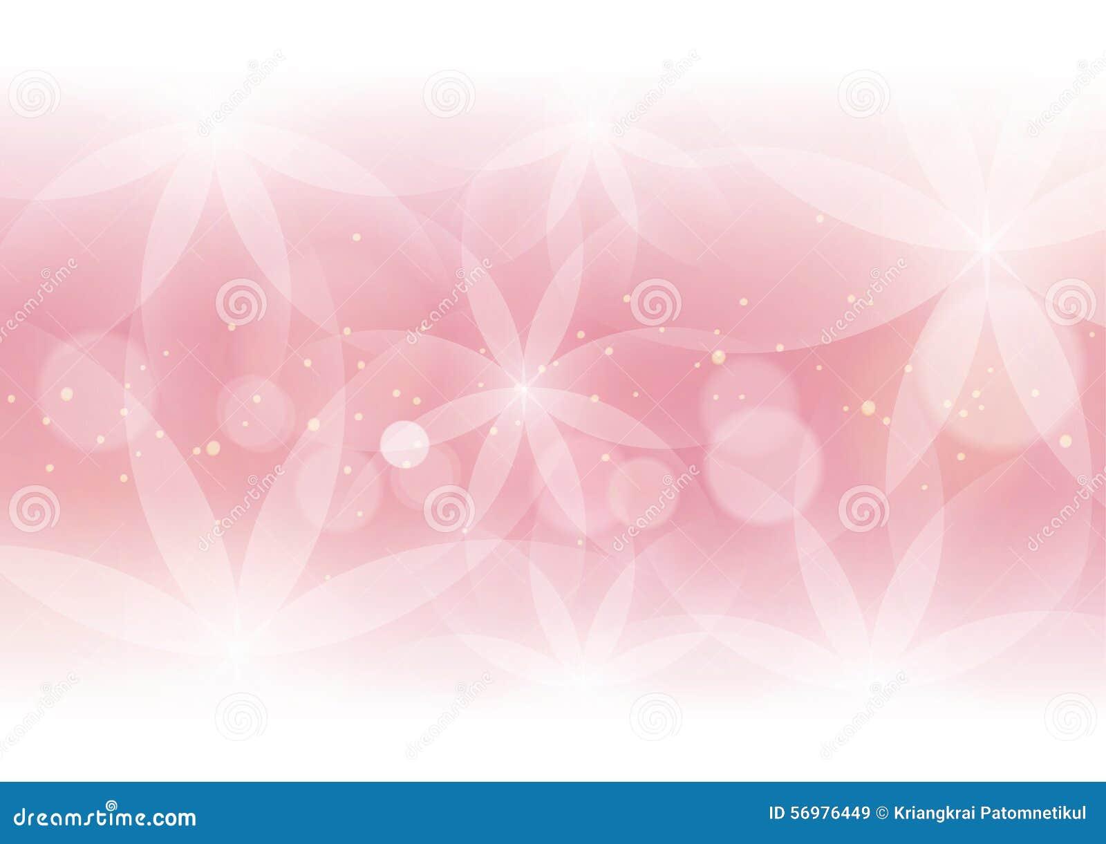 Abstrakcjonistyczny Kwiecisty światło - różowy tło dla projekta