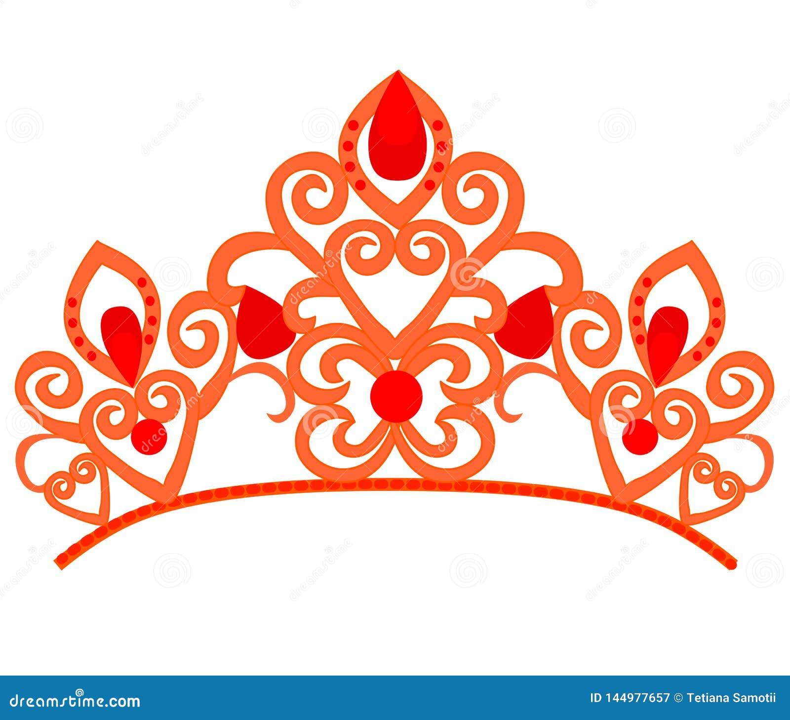 Abstrakcjonistyczny luksus, kr?lewskiej z?otej firma loga ikony wektorowy projekt Elegancka korona, tiara, diadem premii symbol