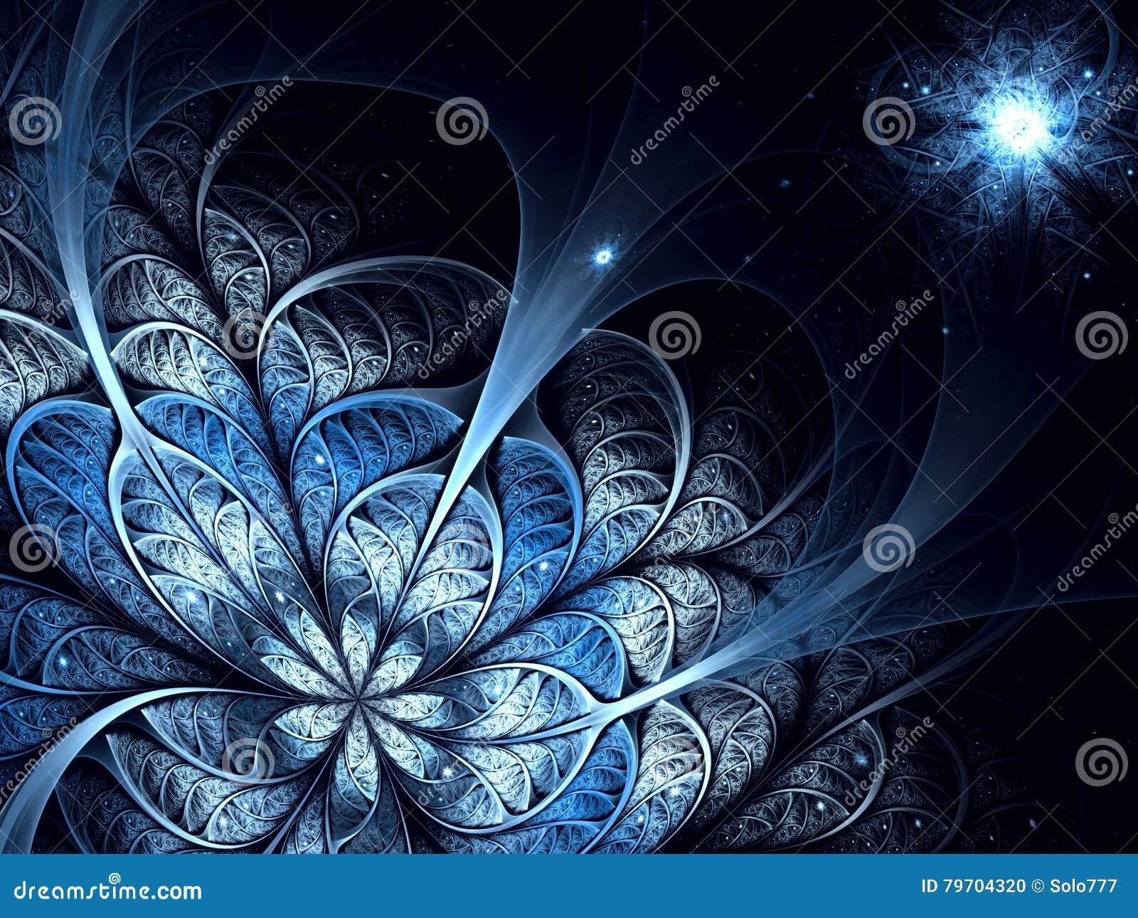 Abstrakcjonistyczny niezwykły kwiat - cyfrowo wytwarzający wizerunek