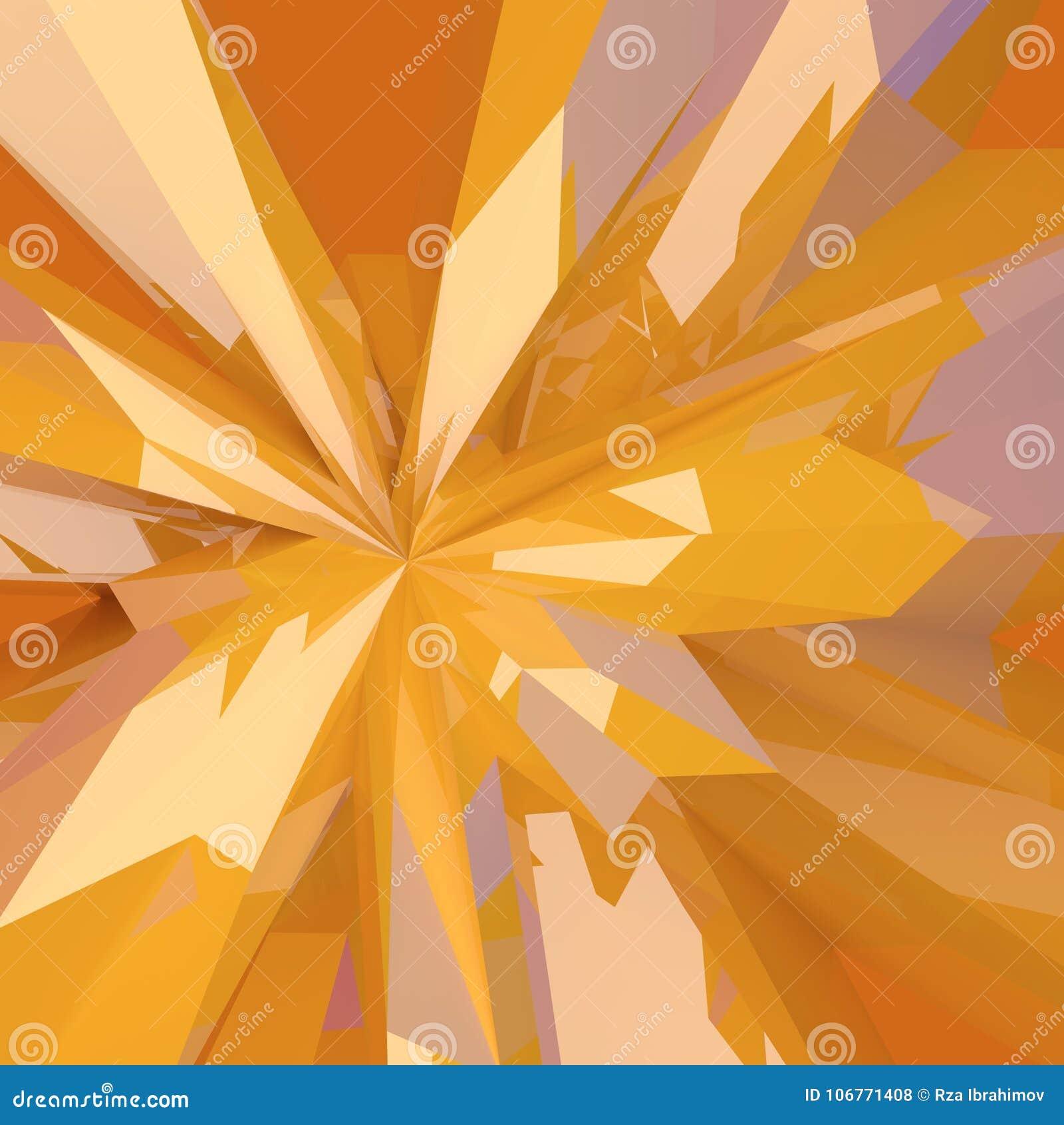 Abstrakcjonistyczny niski poli- łamający żółty szklany tło