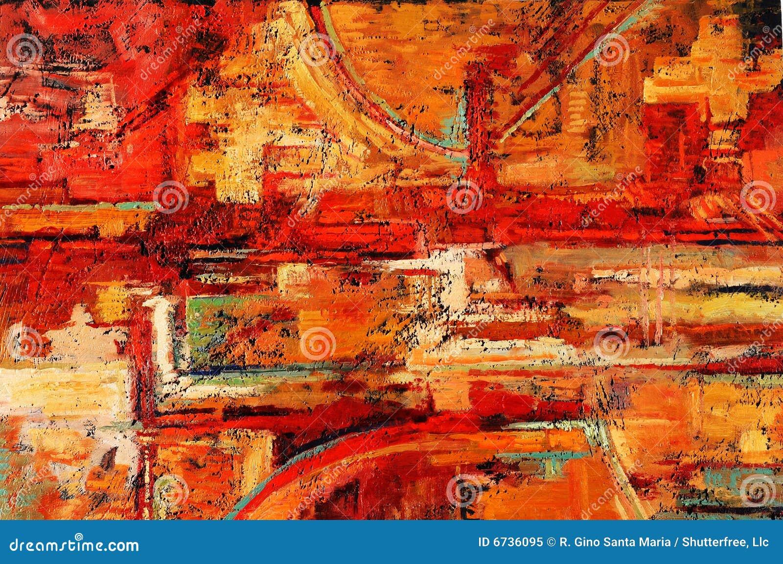 Abstrakcjonistyczny obraz