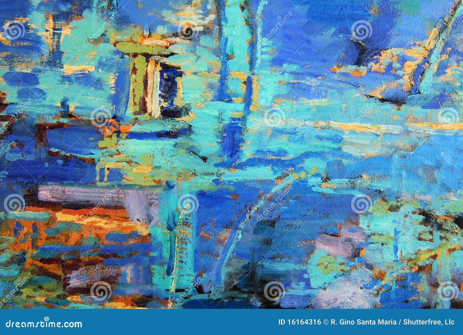 Abstrakcjonistyczny obraz olejny